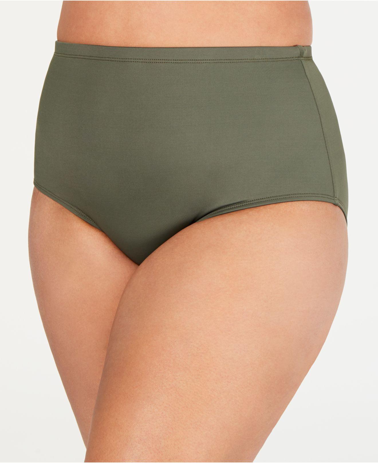 ad44c51025689 Lyst - La Blanca Plus Size High-waist Swim Bottoms in Green