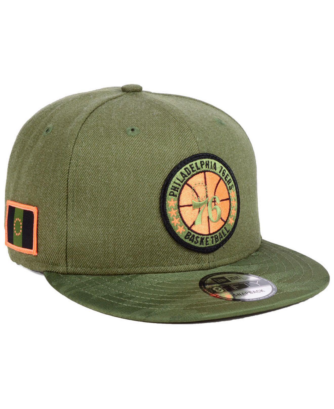 cheap for discount 85fa0 d95cc ... netherlands ktz. mens green philadelphia 76ers tip off 9fifty snapback  cap 01aba 76231