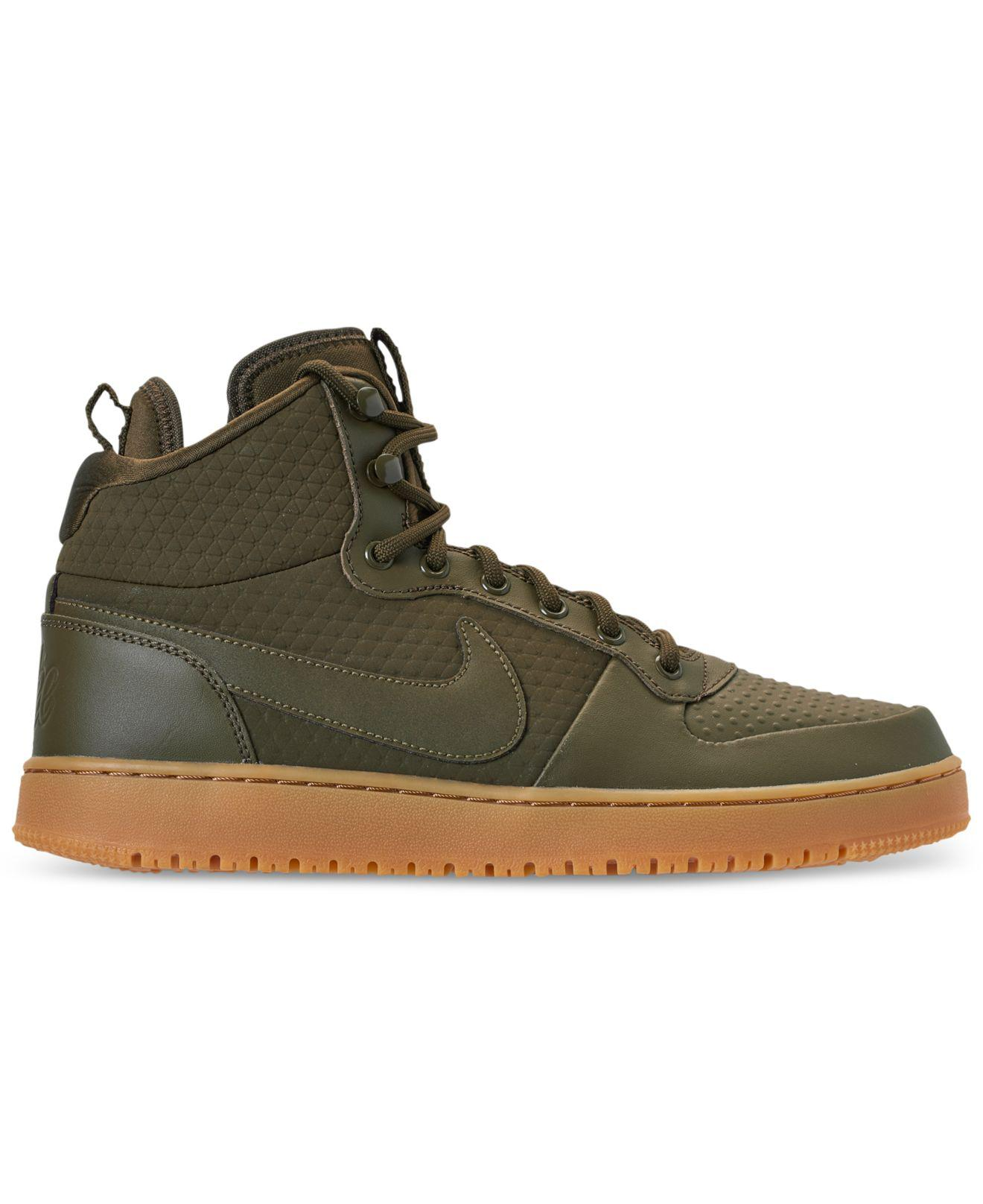 0b76e9407bbc2 Lyst - Nike Ebernon Mid Winter Casual Sneakers From Finish Line in Green  for Men