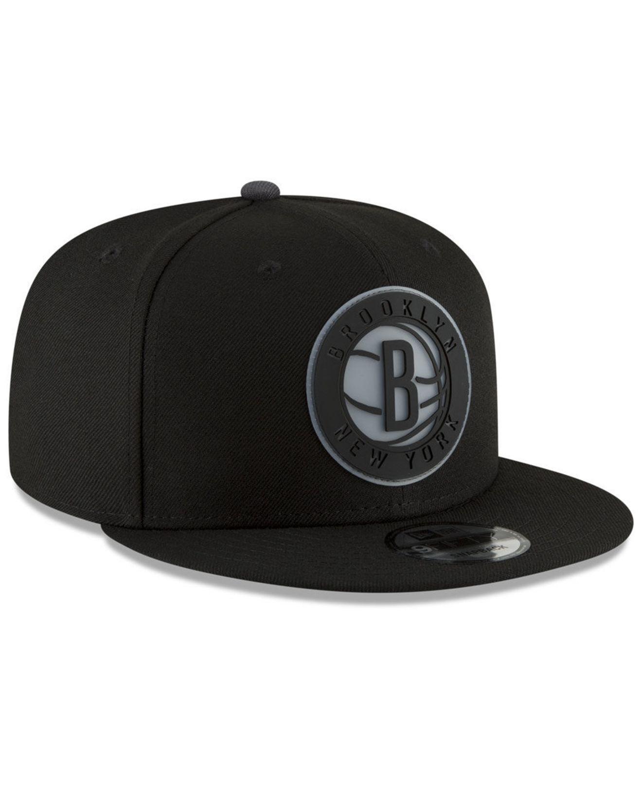 online retailer 96877 8bc9d Lyst - Ktz Brooklyn Nets Team Cleared 9fifty Snapback Cap in Black ...