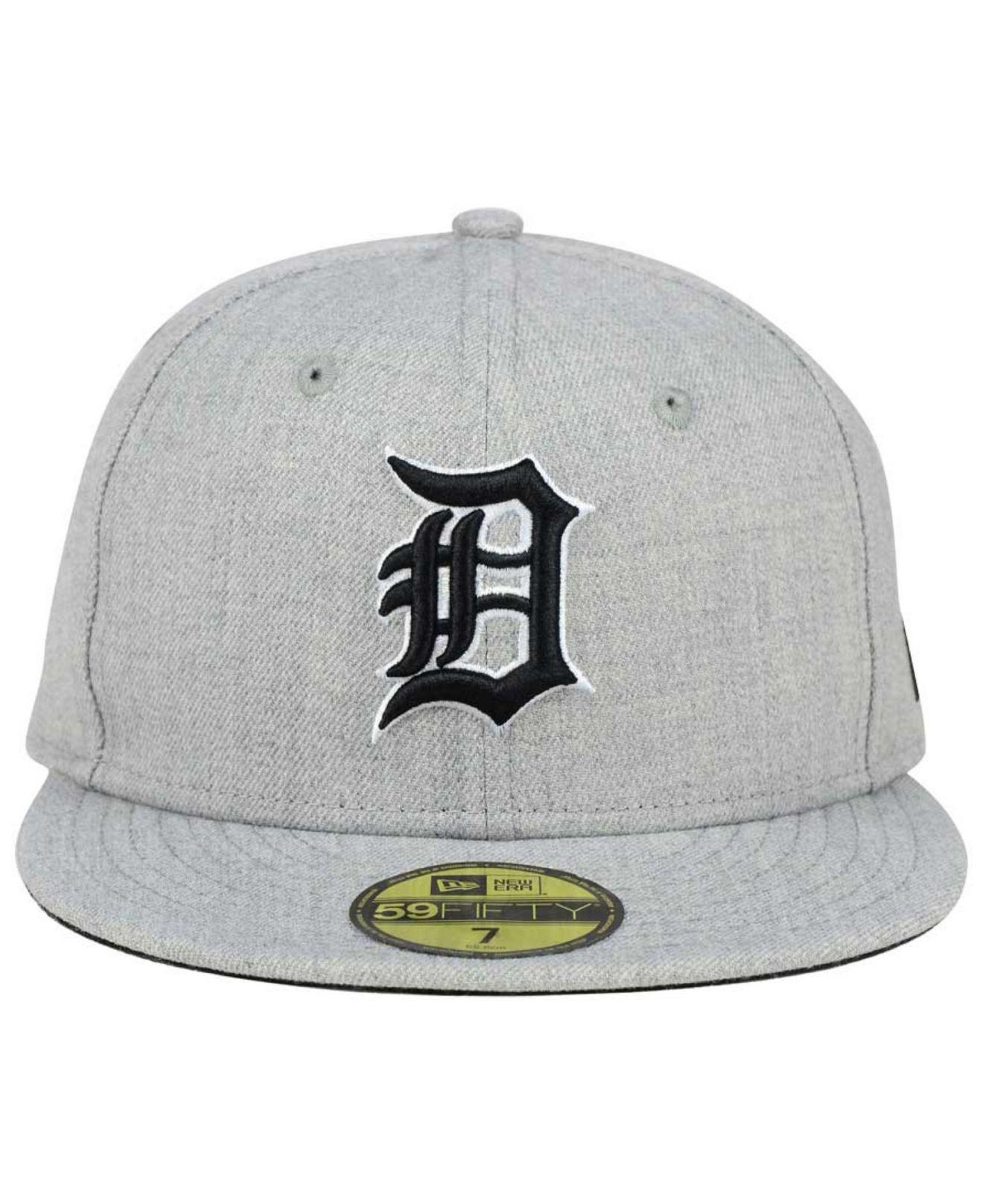 los angeles 17a02 772e5 Lyst - KTZ Detroit Tigers Heather Black White 59fifty Cap in Gray for Men