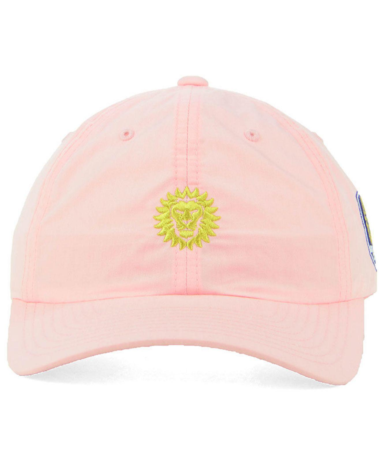 info for 0eee2 cb27f ... shop lyst adidas orlando city sc pink easy adjustable cap in pink ef788  cc9e8