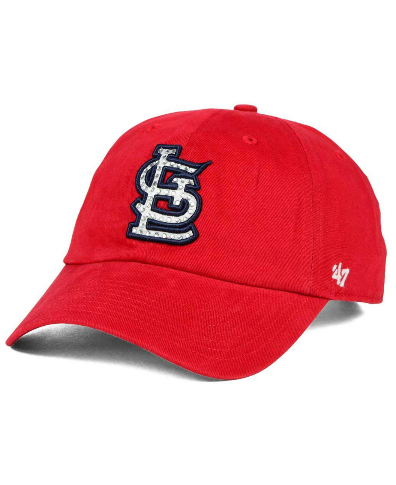 109234f3d9f08 ... switzerland lyst 47 brand st. louis cardinals gemstone clean up cap in  red for men