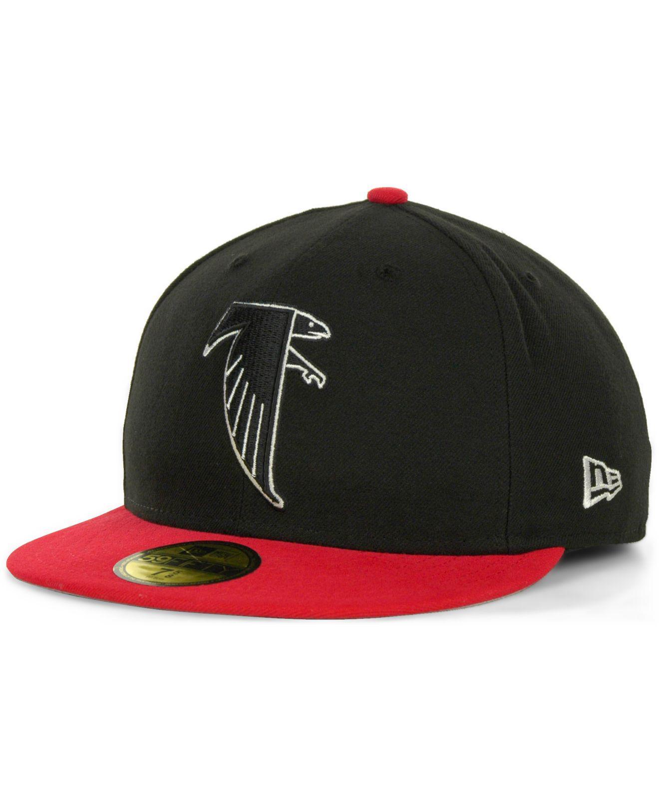 30a0af02bd746 KTZ - Black Atlanta Falcons Historic 59fifty Hat for Men - Lyst. View  fullscreen