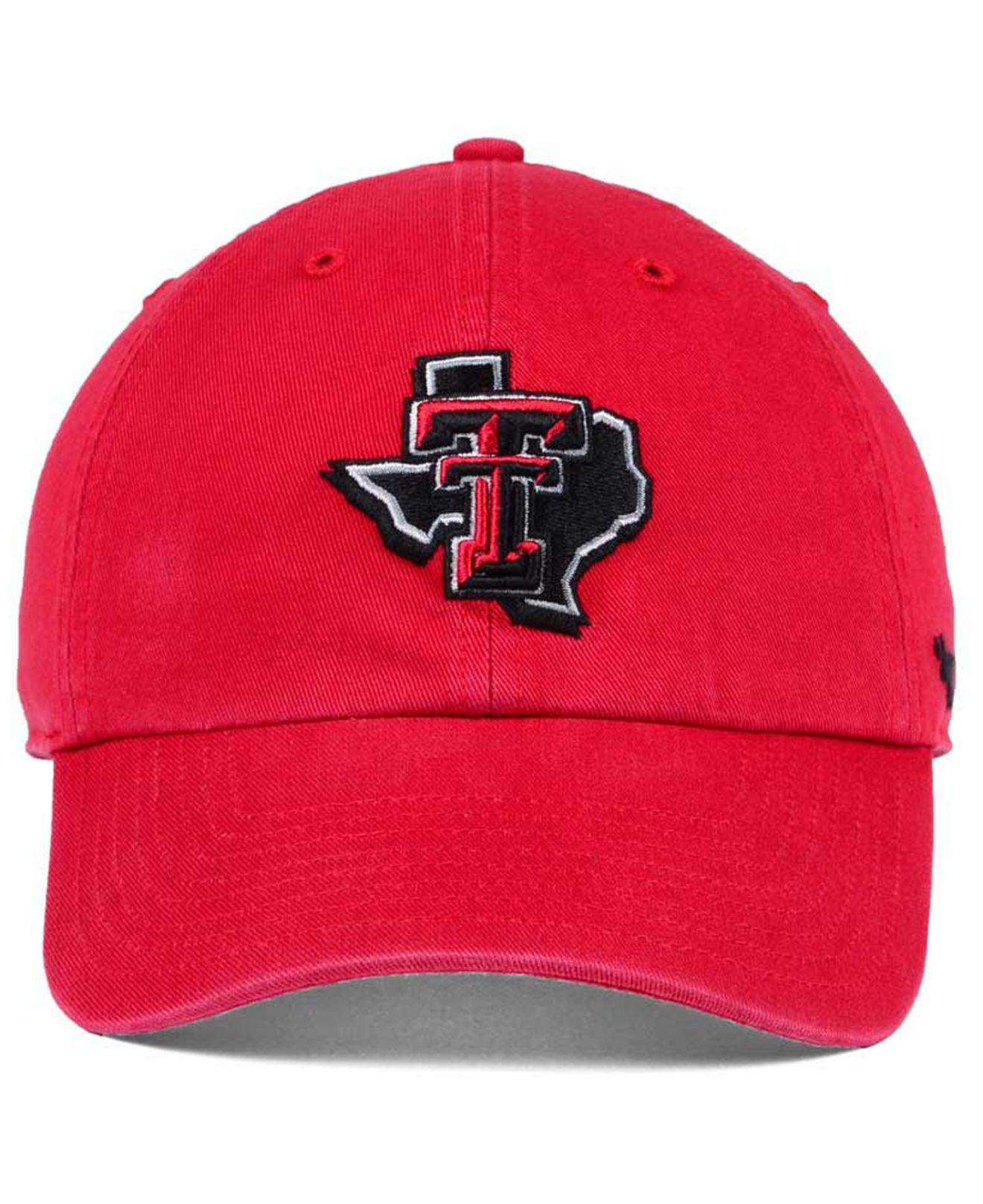 Lyst - 47 Brand Texas Tech Red Raiders Clean Up Cap in Red for Men 72f940e0f913