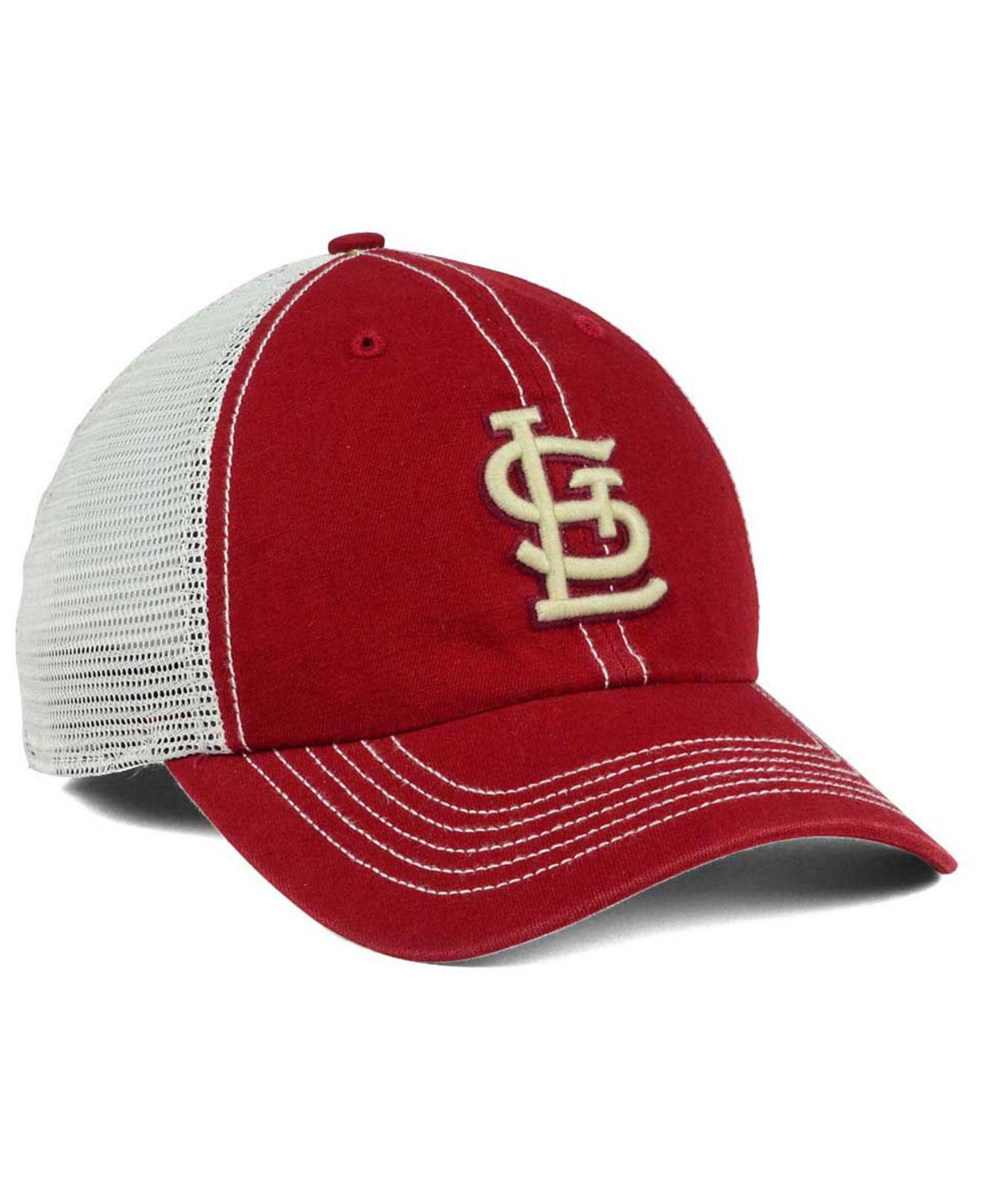 sale retailer 3198e c5be5 ... new zealand lyst 47 brand st. louis cardinals prospect mesh closer cap  in red 4b18e