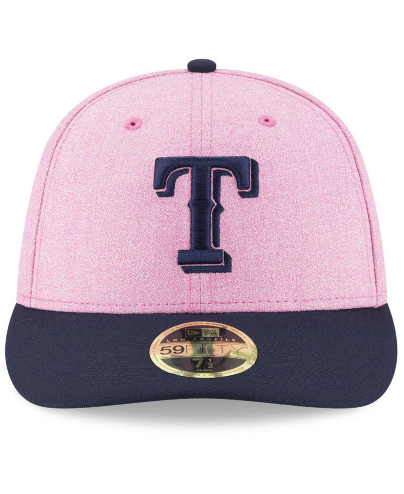official photos d8260 aca90 Lyst - KTZ Texas Rangers Mothers Day Low Profile 59fifty Fitted Cap ...