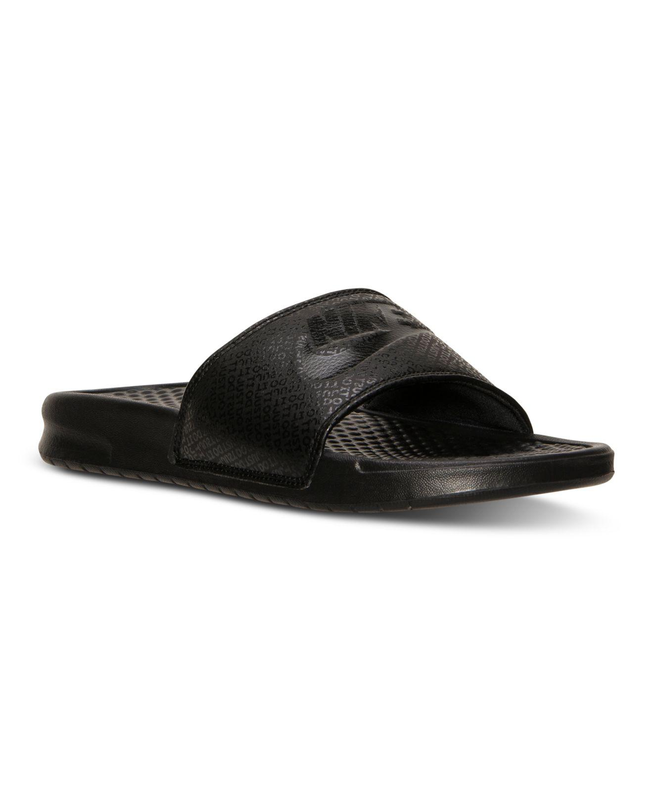 3e756eddd67 Lyst - Nike Men s Benassi Jdi Slide Sandals From Finish Line in ...
