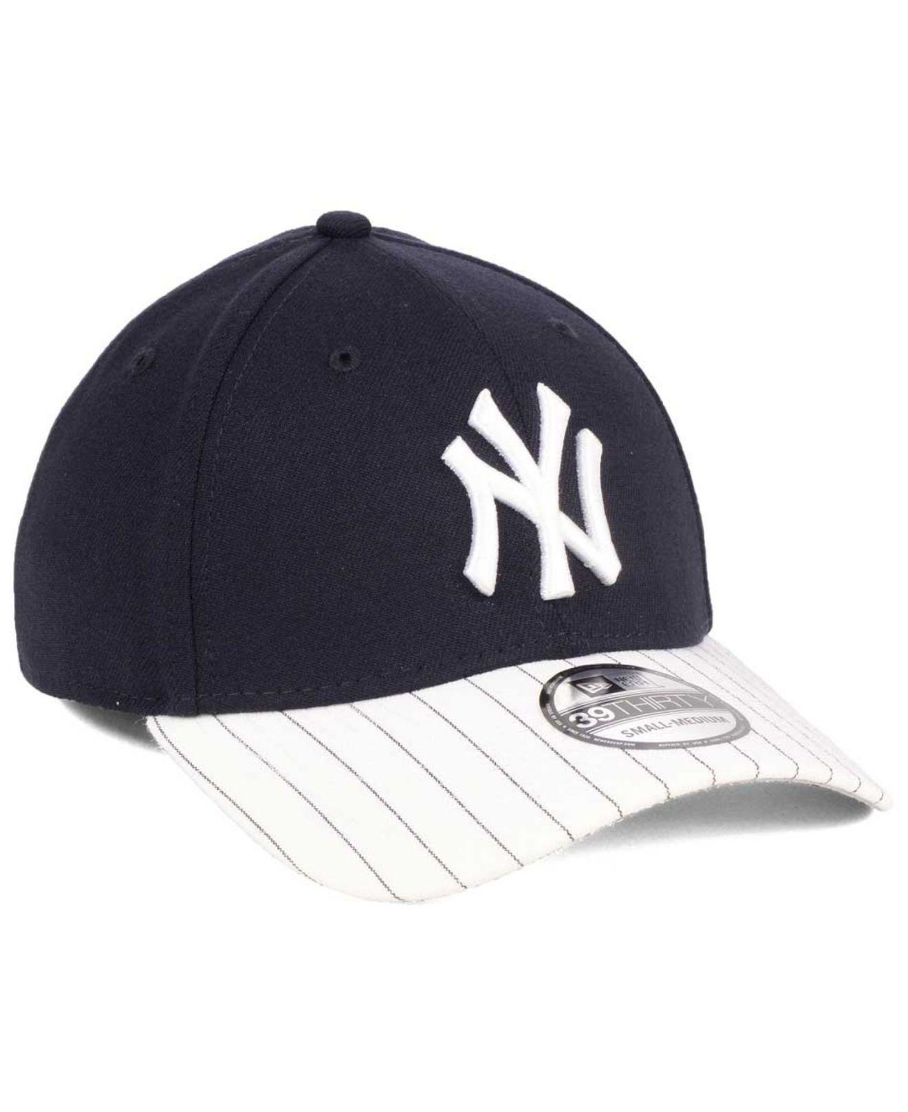 sports shoes b87c2 5b519 KTZ New York Yankees Pinstripe Classic 39thirty Cap in Blue for Men ...