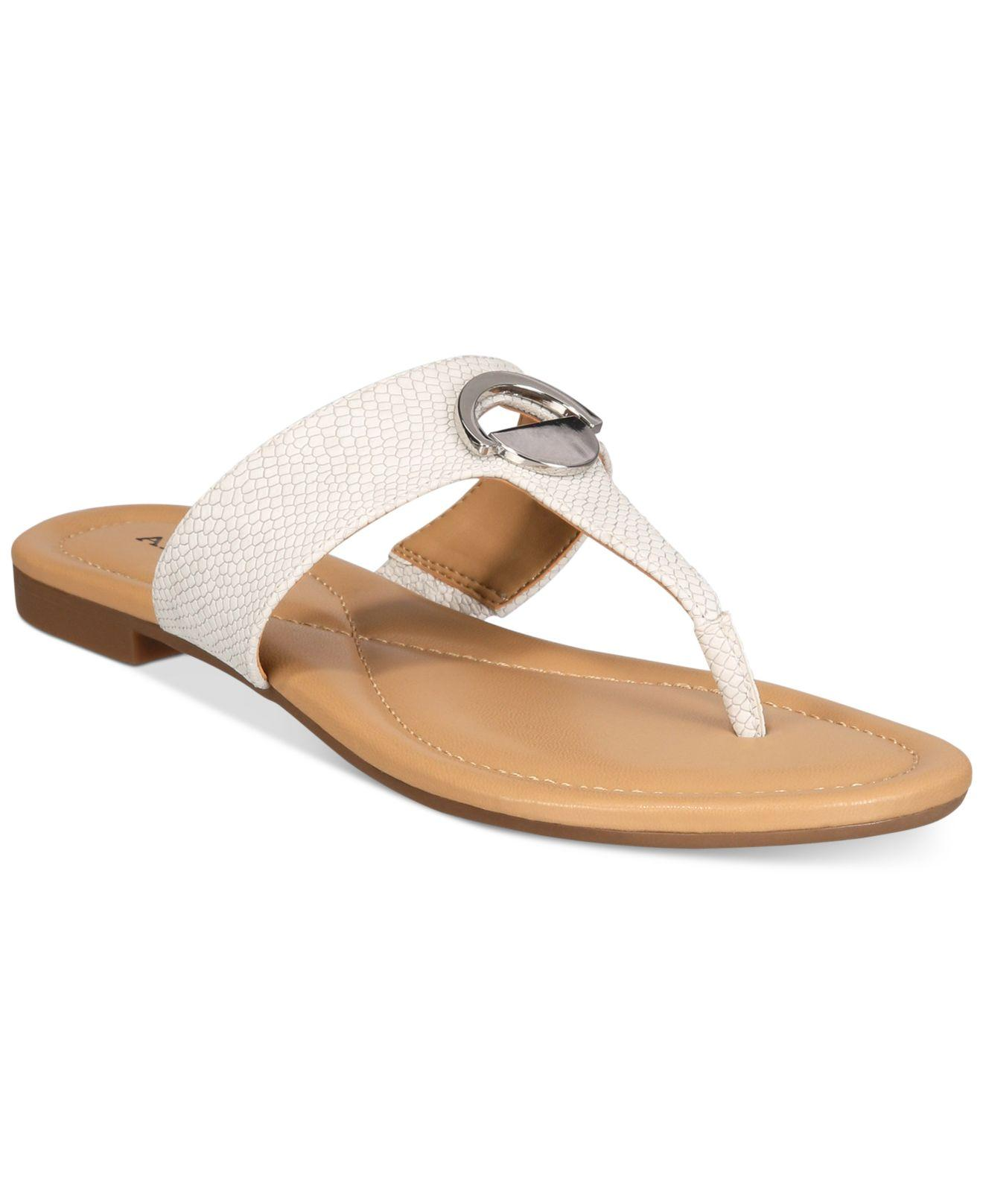 Lyst Alfani Women S Holliss T Strap Thong Sandals In White