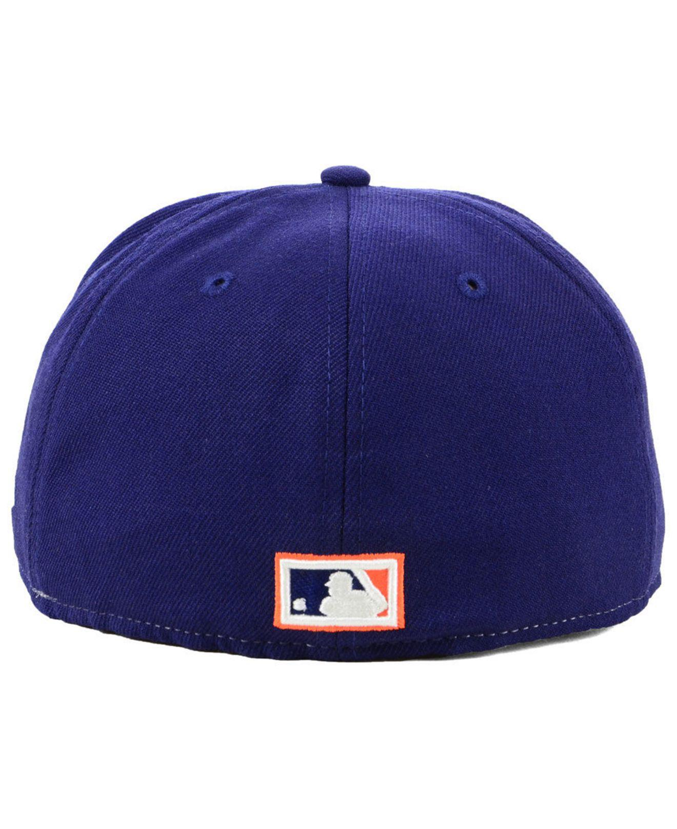 b8754f0b0d3 Lyst - KTZ Houston Colt 45s Vintage Front 59fifty Fitted Cap in Blue ...