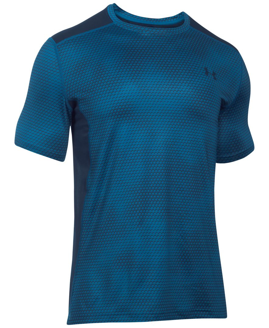 Under Armour Men 39 S Printed Raid Fitted T Shirt In Blue For