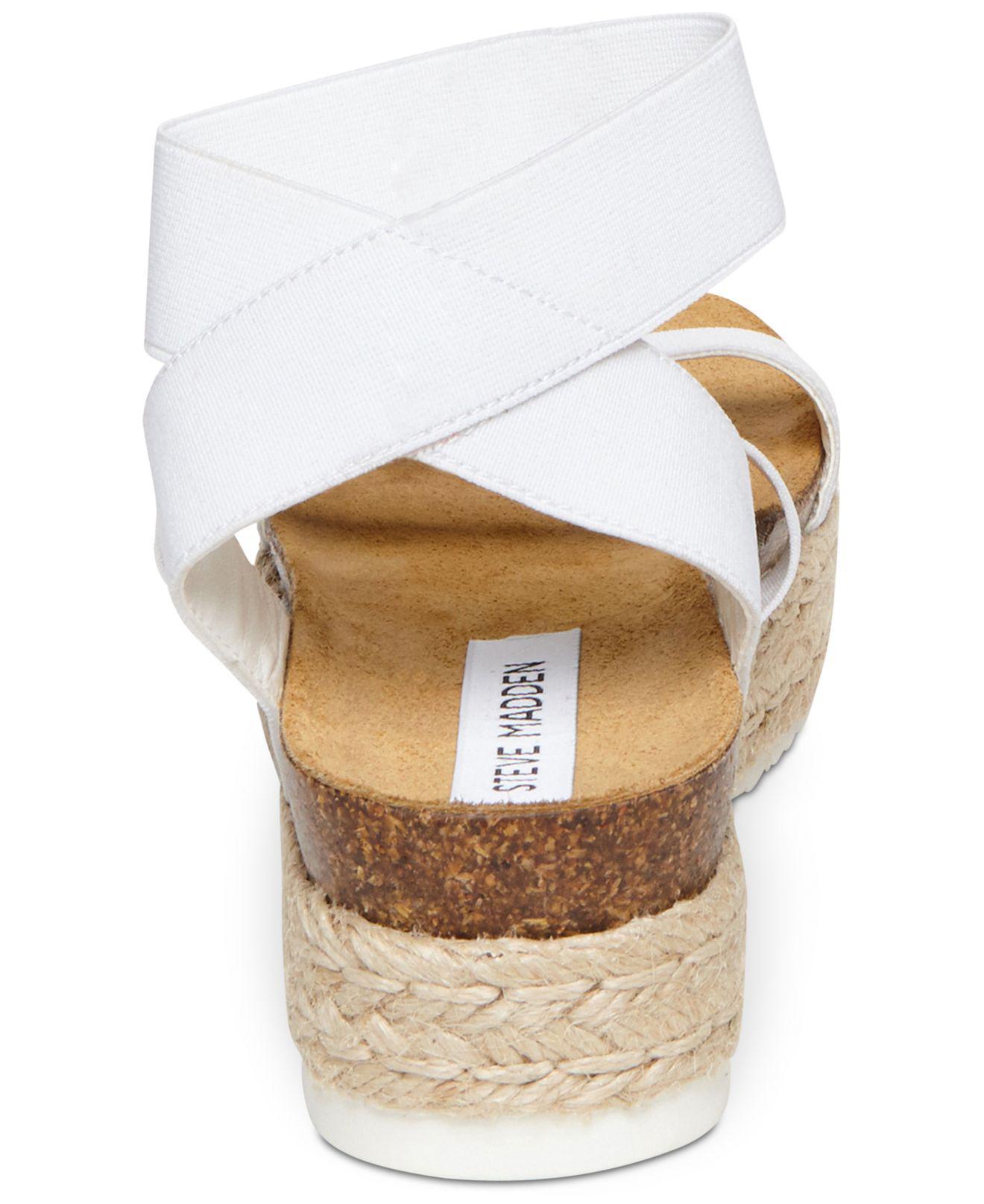 ffe61549e09 Steve Madden - White Kimmie Flatform Espadrille Sandals - Lyst. View  fullscreen