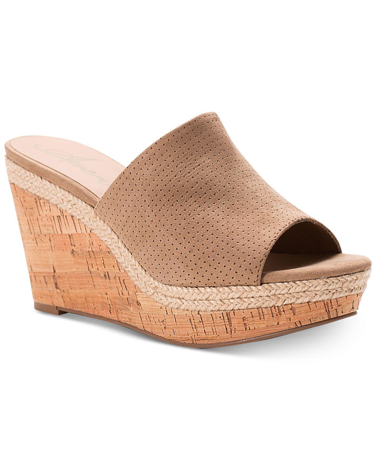 2e09170e7 American Rag. Women s Natural Shira Platform Wedge Sandals