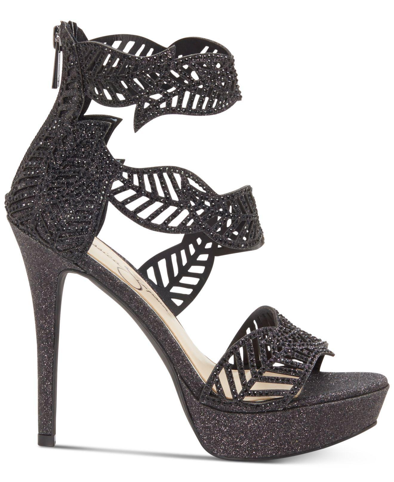 fe8a0025dd8d Lyst - Jessica Simpson Bonilynn Platform Dress Sandals in Black