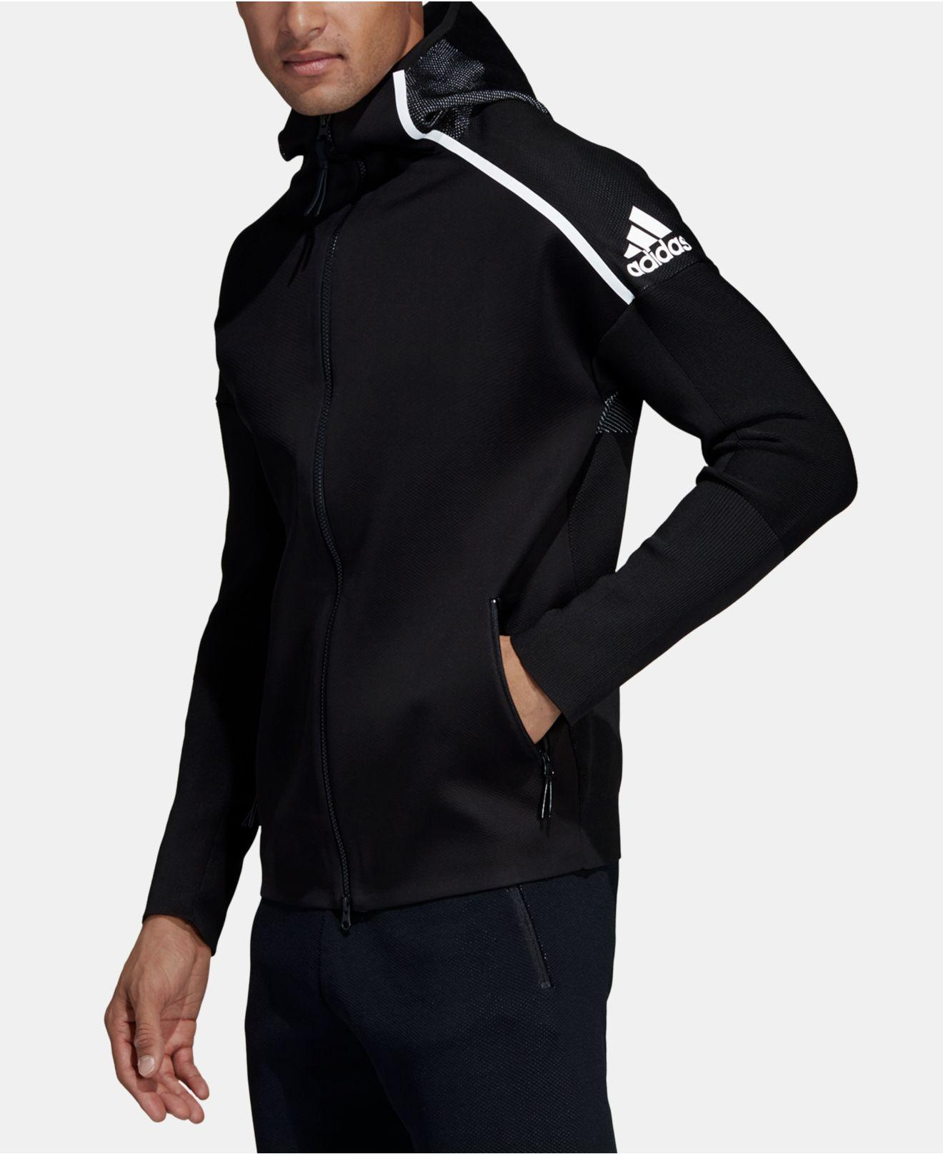 f5a98cdc5 adidas Zne Hybrid Zip Hoodie in Black for Men - Lyst