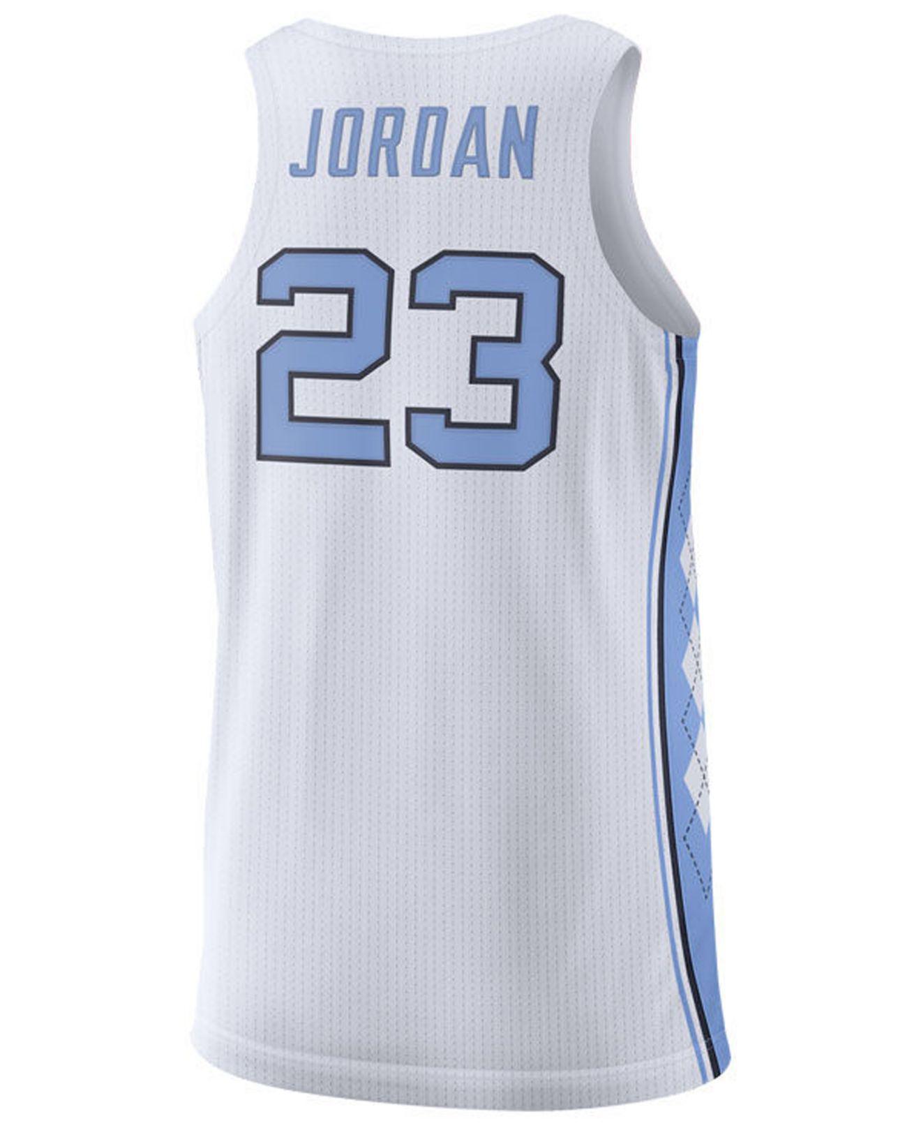 bd68cf93533 Lyst - Nike Michael Jordan North Carolina Tar Heels Authentic Basketball  Jersey in White for Men