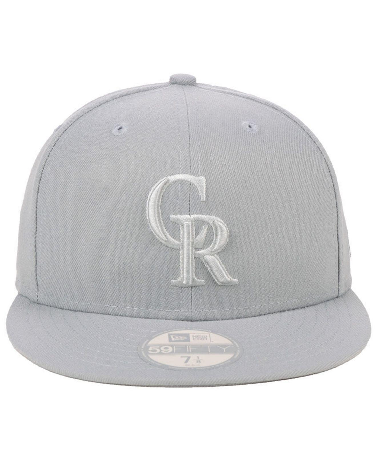 check out b6591 9e63f ... coupon for lyst ktz colorado rockies fall prism pack 59fifty fitted cap  in gray for men