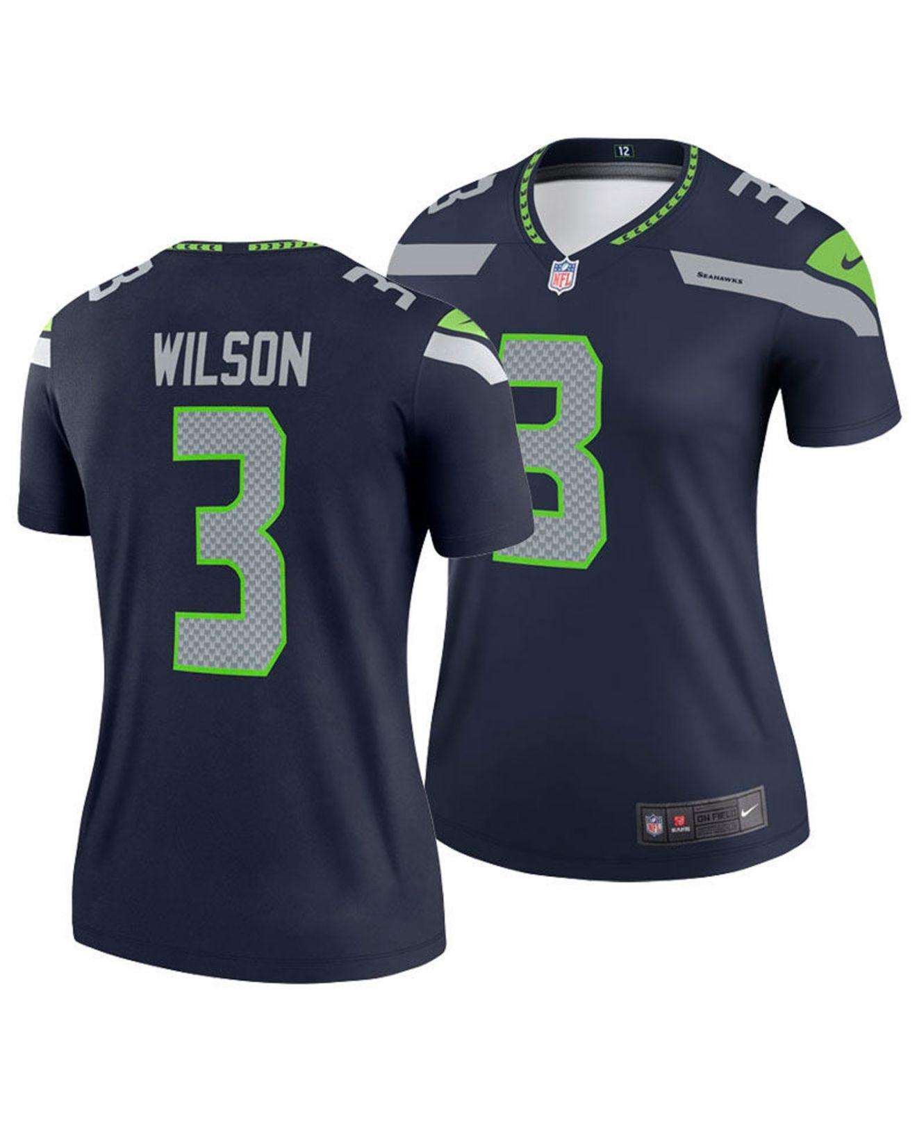 reputable site 4a111 a255d Lyst - Nike Russell Wilson Seattle Seahawks Legend Jersey in ...