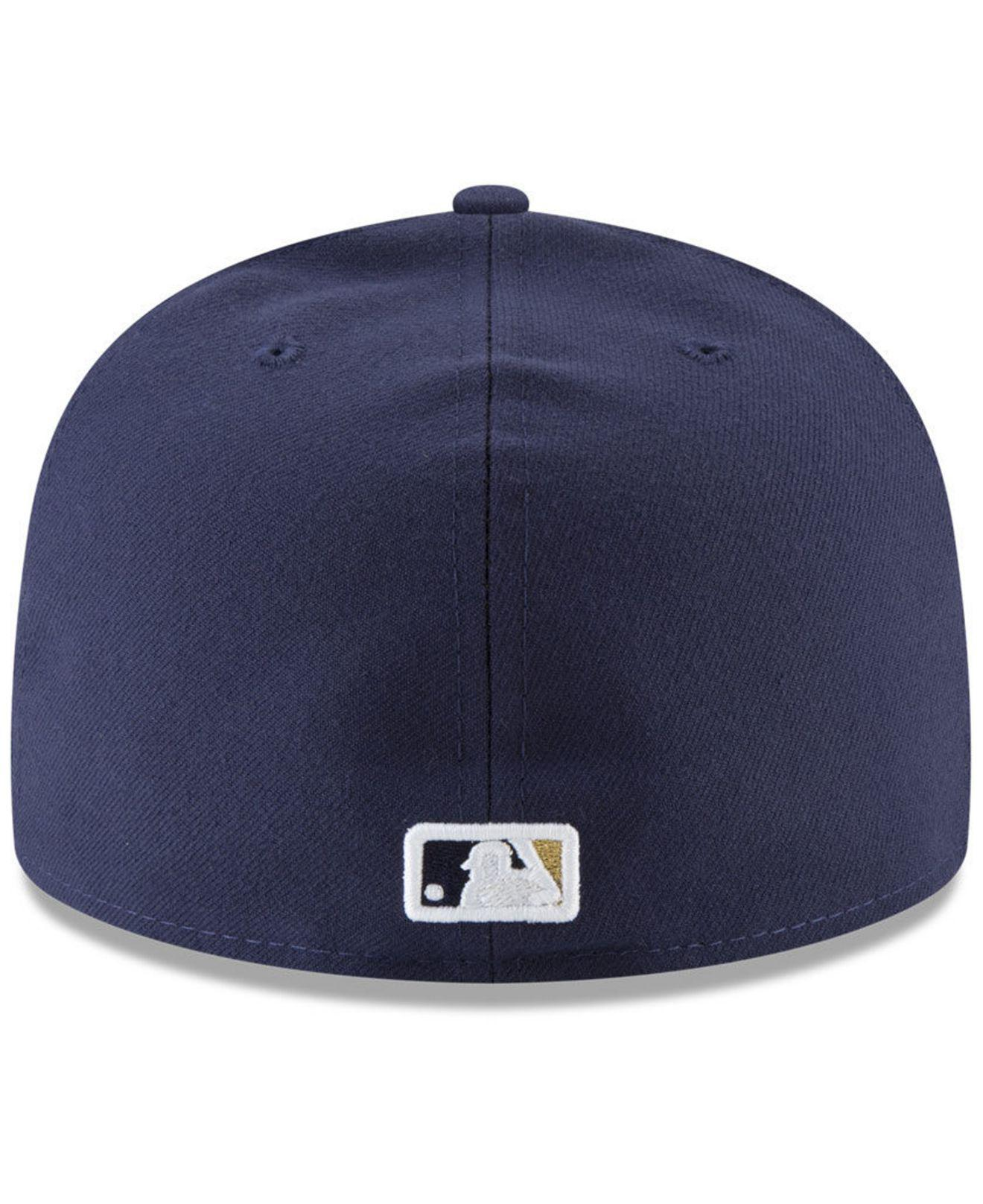 Lyst - KTZ Milwaukee Brewers Sandlot Patch 59fifty Fitted Cap in ... b0470b750070