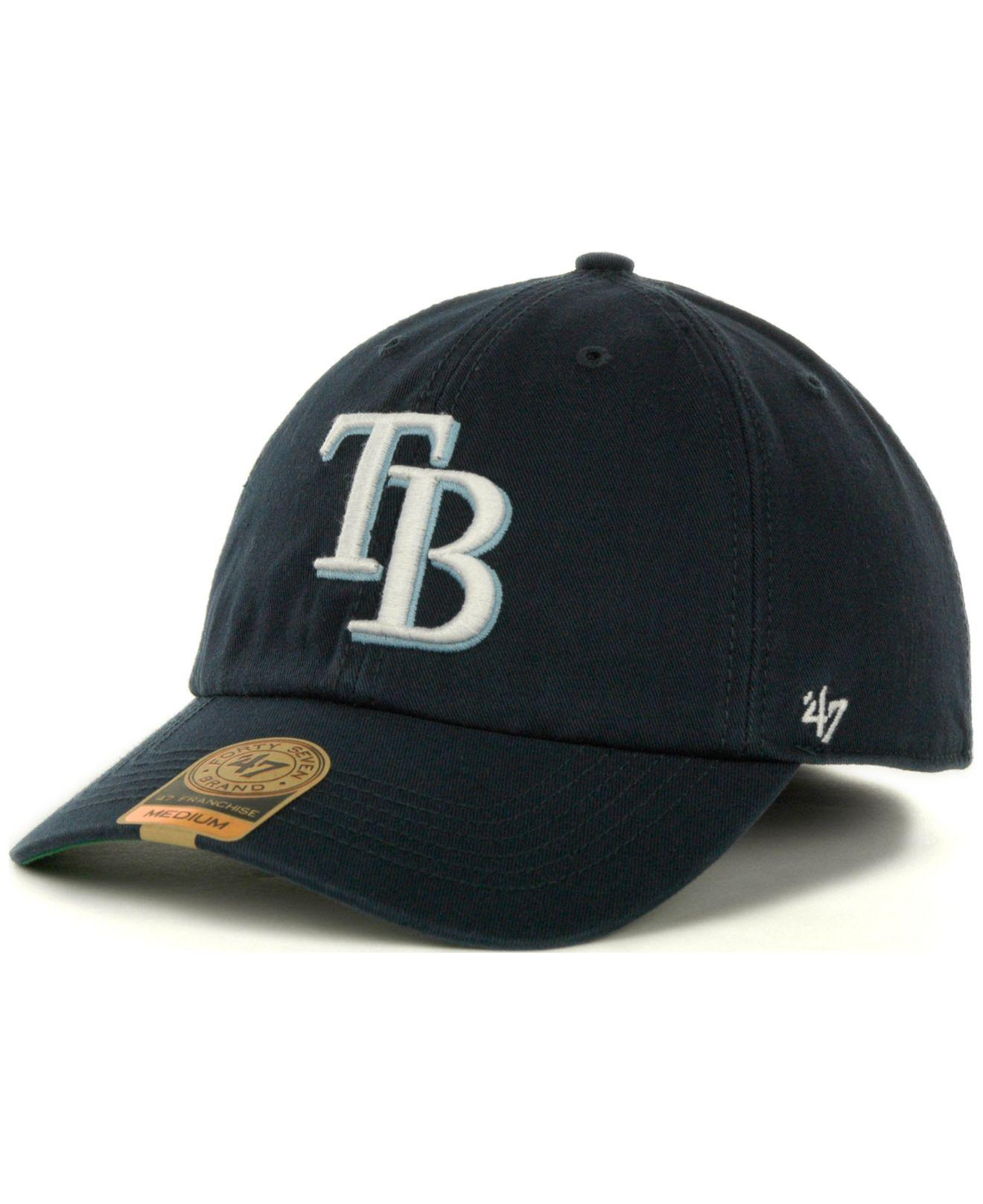 444872cbc10 Lyst - 47 Brand Tampa Bay Rays Franchise Cap in Blue for Men