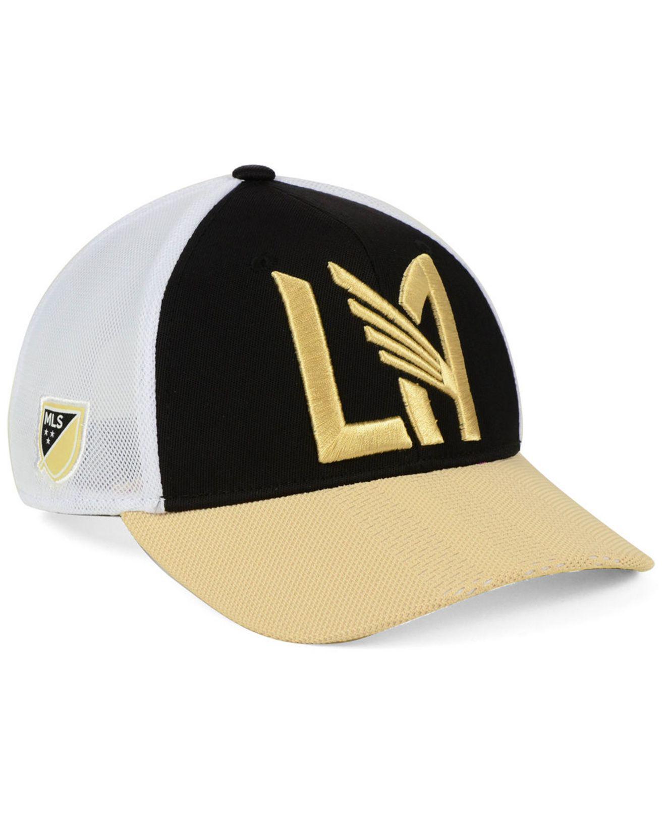 a0789fc8f0663 adidas. Men s Black Los Angeles Football Club Authentic Mesh Adjustable Cap