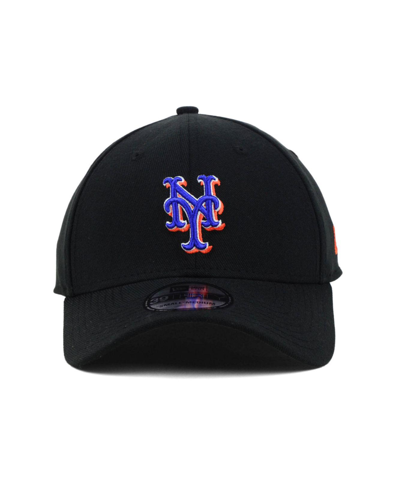 best loved 71f9a 24d91 ... closeout lyst ktz new york mets mlb team classic 39thirty cap in black  for men e2022