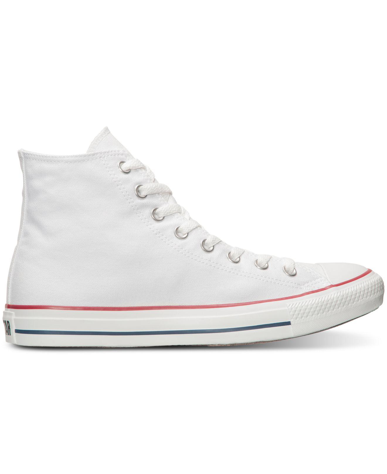 Lyst - Converse Men s Chuck Taylor All Star Canvas High Top Sneakers in  White for Men - Save 32% 57fac9d25