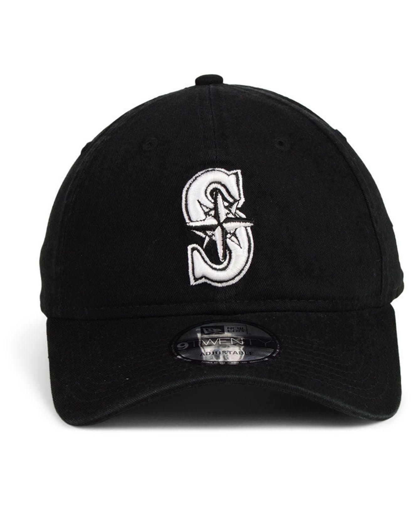 low priced 14ede dc691 Lyst - KTZ Seattle Mariners Core 9twenty Strapback Cap in Black for Men