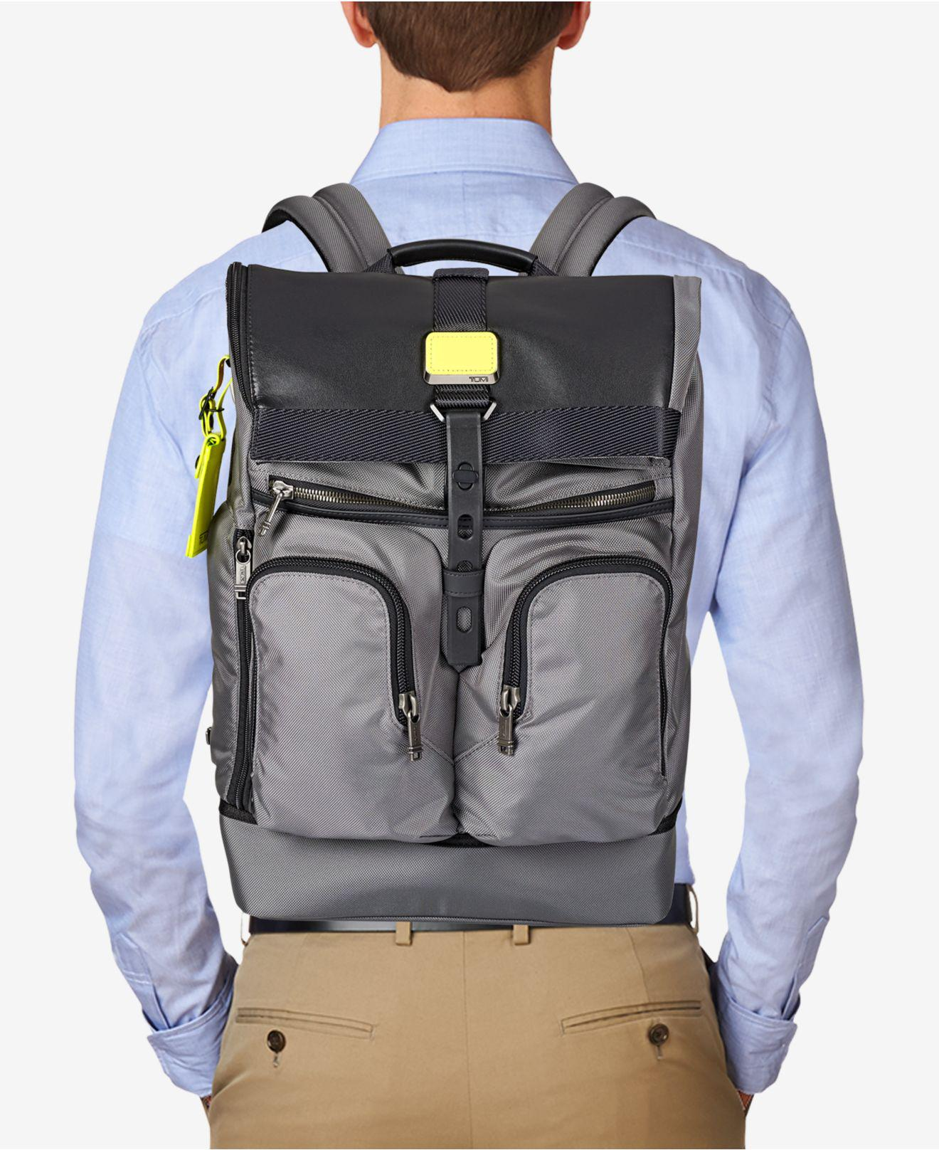 a1845fd3cd Lyst - Tumi Alpha Bravo London Roll-top Backpack in Gray for Men
