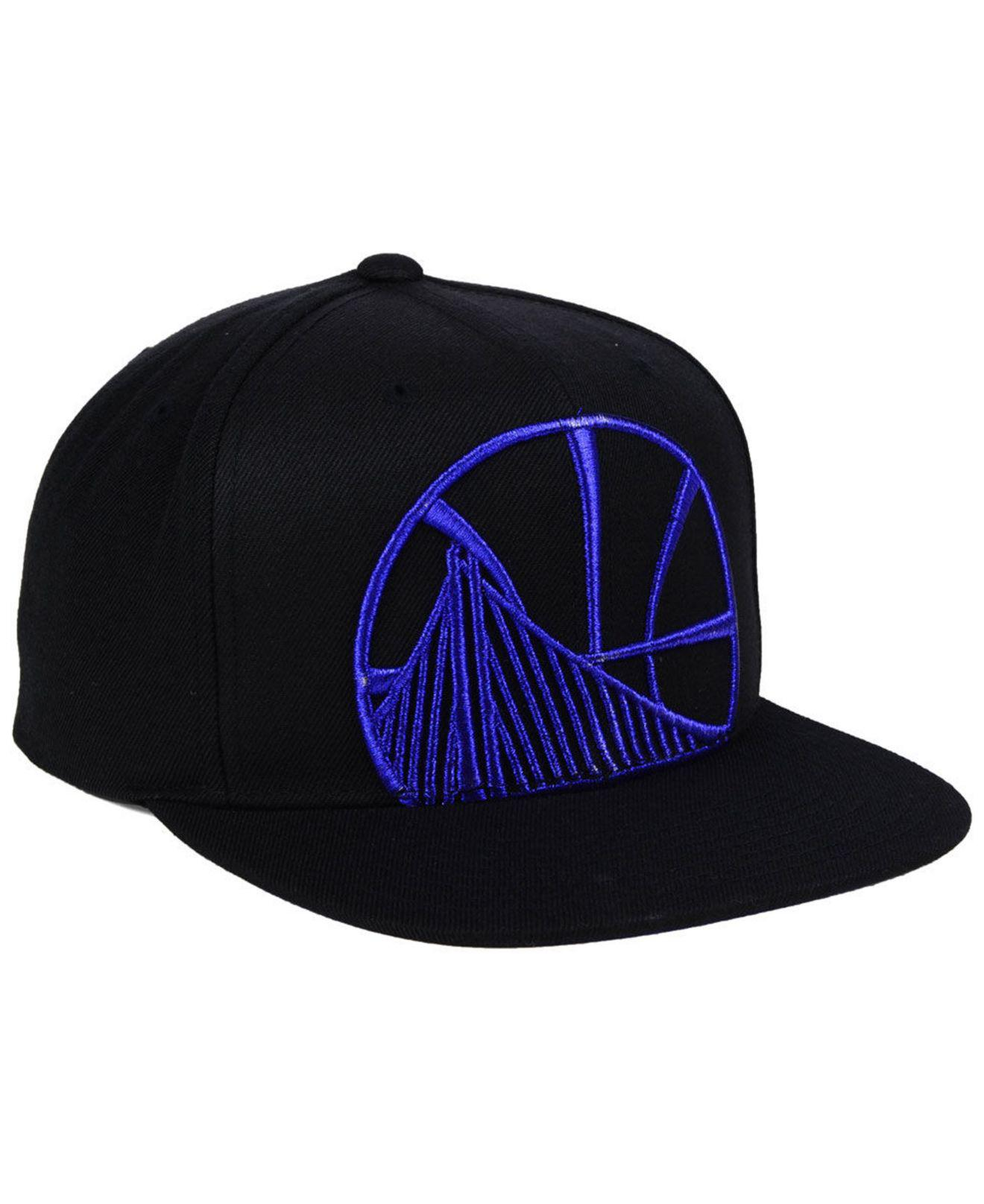 0403ca0a ... greece mitchell ness black golden state warriors metallic cropped snapback  cap for men lyst. view