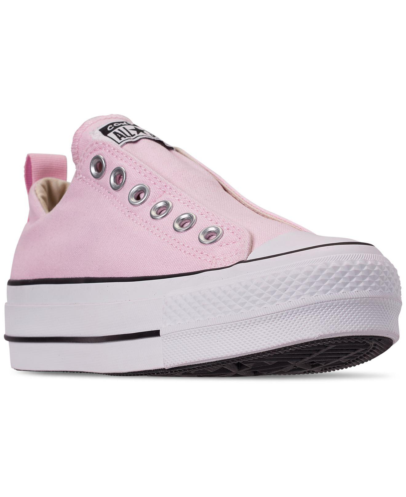 5105af8bec7098 Converse. Women s Pink Chuck Taylor All Star Low Top Fashion Casual Sneakers  From Finish Line
