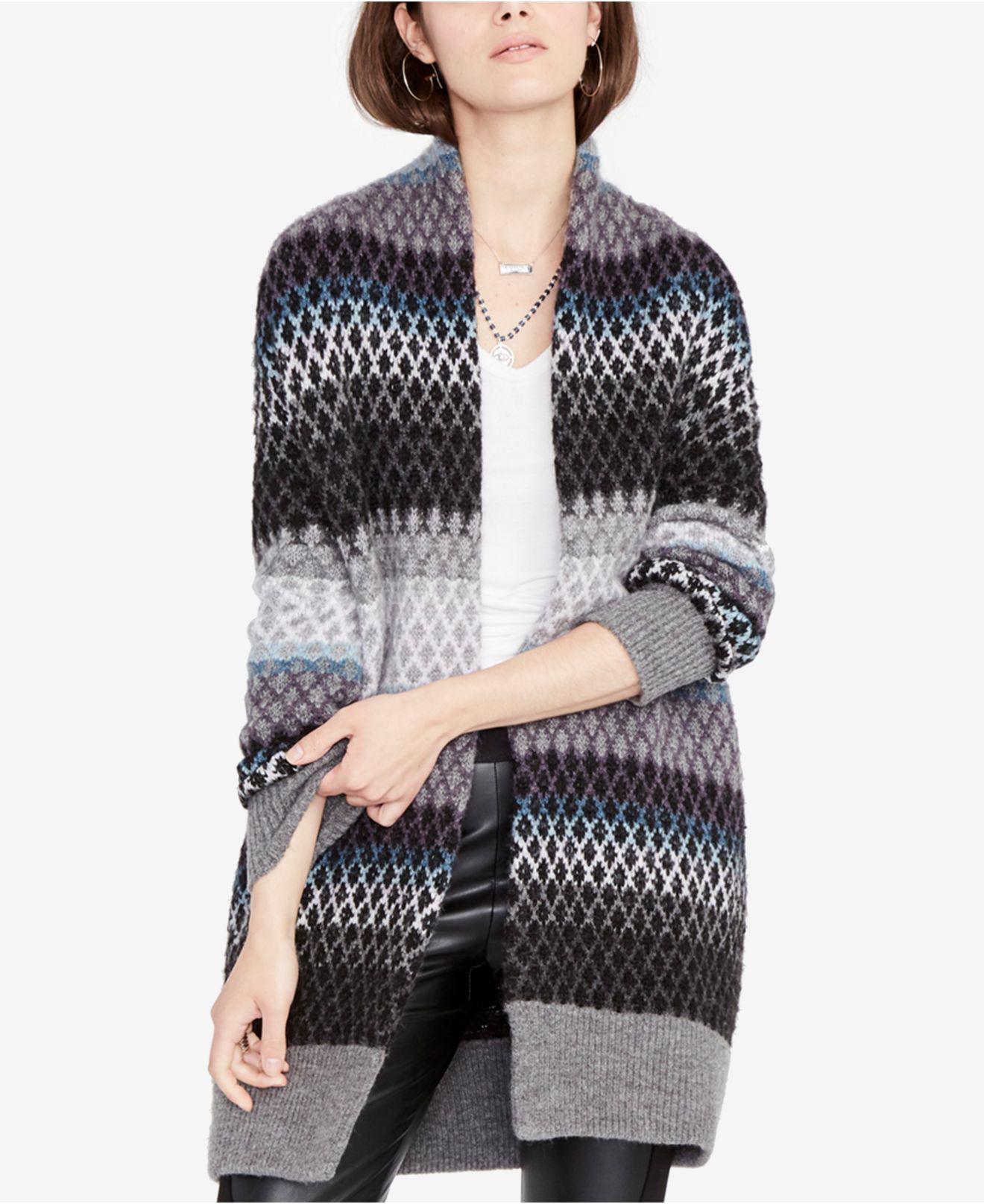 Rachel rachel roy Ombré Diamond Sweater Cardigan   Lyst