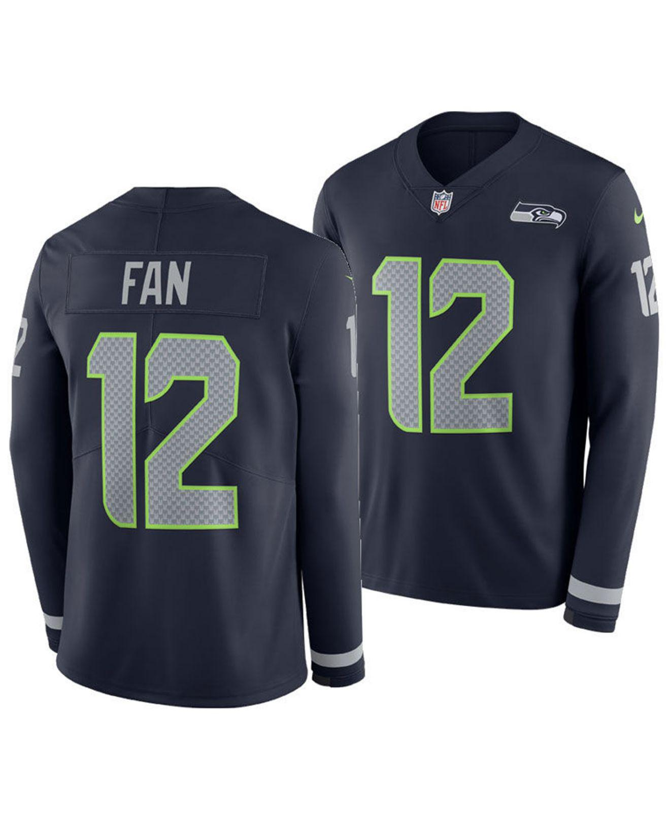 Lyst - Nike Fan  12 Seattle Seahawks Therma Jersey in Blue for Men 473448b6f