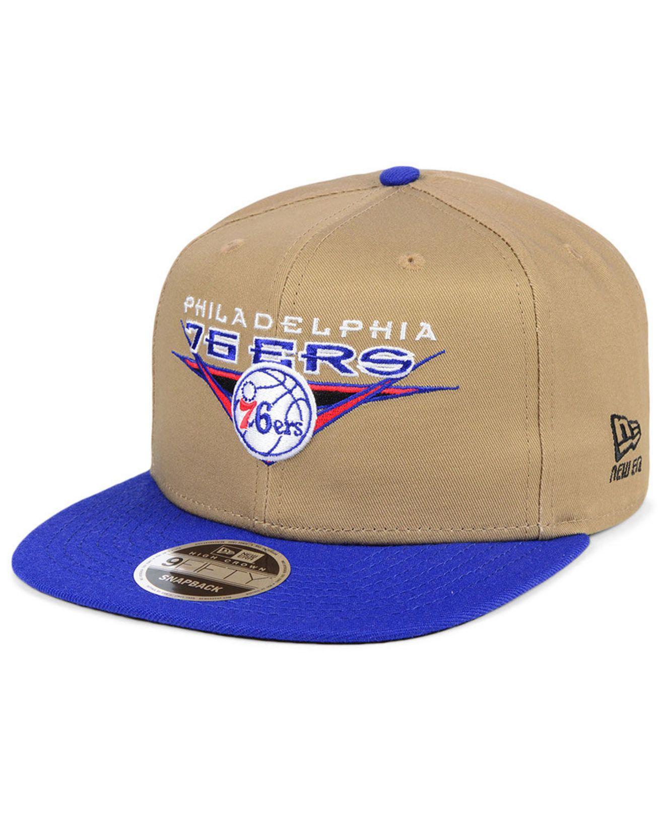 classic fit c5ee9 66d35 KTZ. Men s Blue Philadelphia 76ers Jack Knife 9fifty Snapback Cap