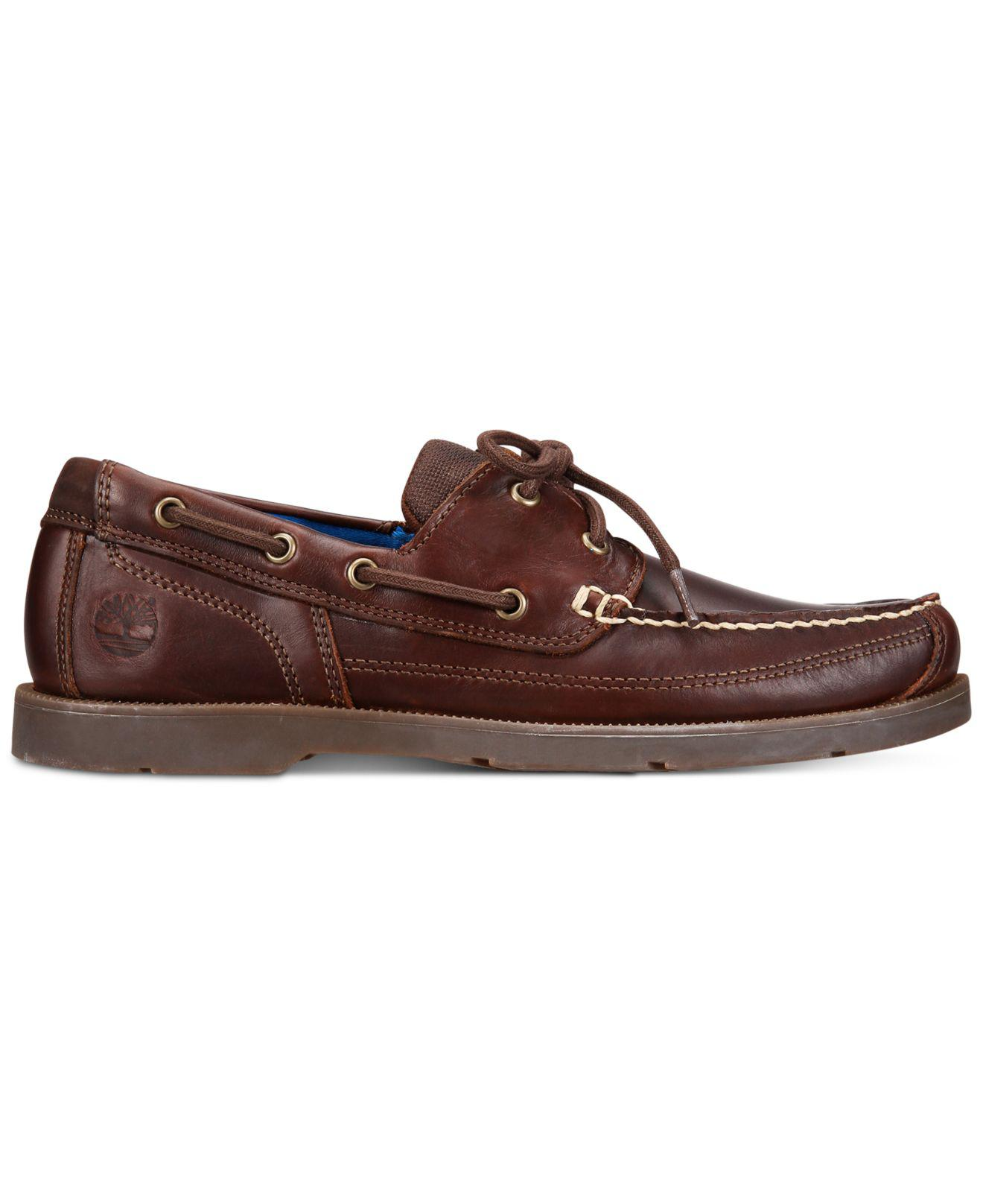 8645f2feaa Timberland Men's Piper Cove Leather Boat Shoes in Brown for Men - Save 41%  - Lyst
