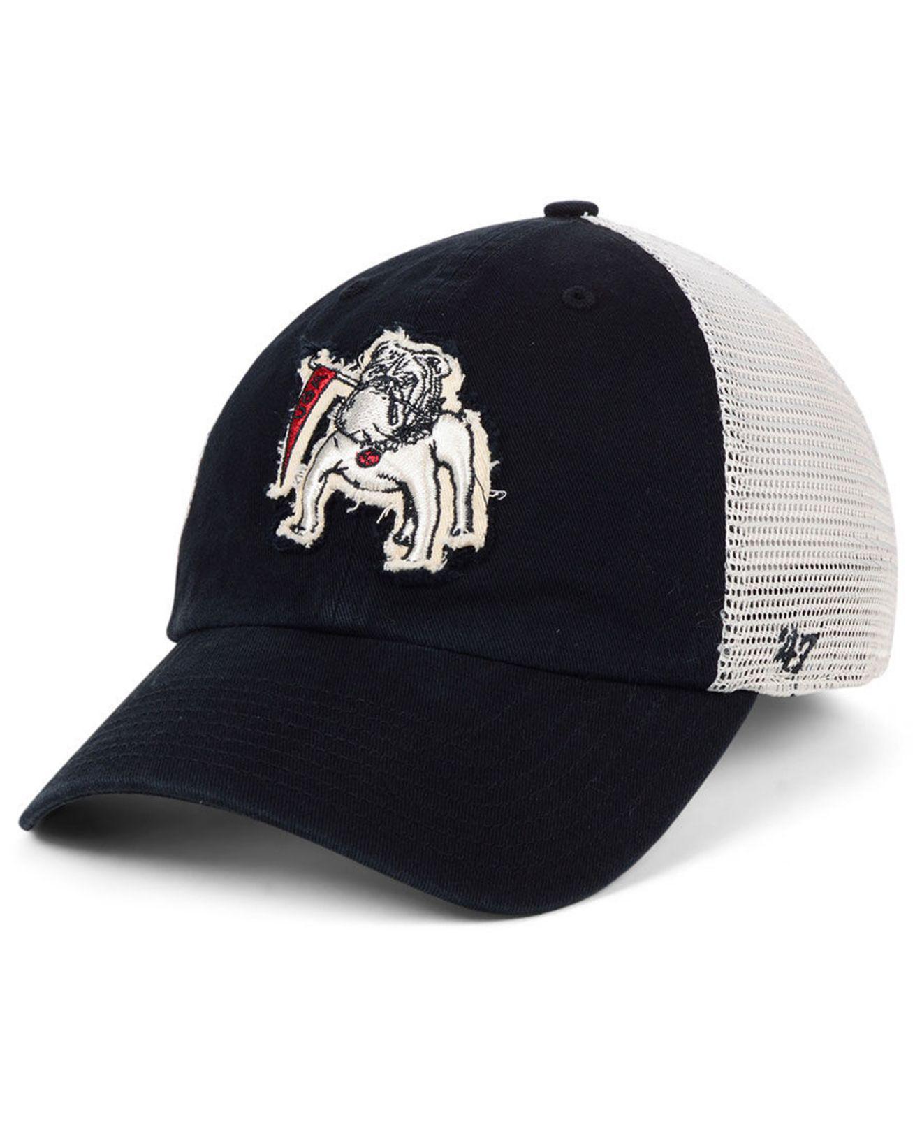 52a34426fbb 47 Brand. Men s Black Georgia Bulldogs Stamper Closer Stretch Fitted Cap