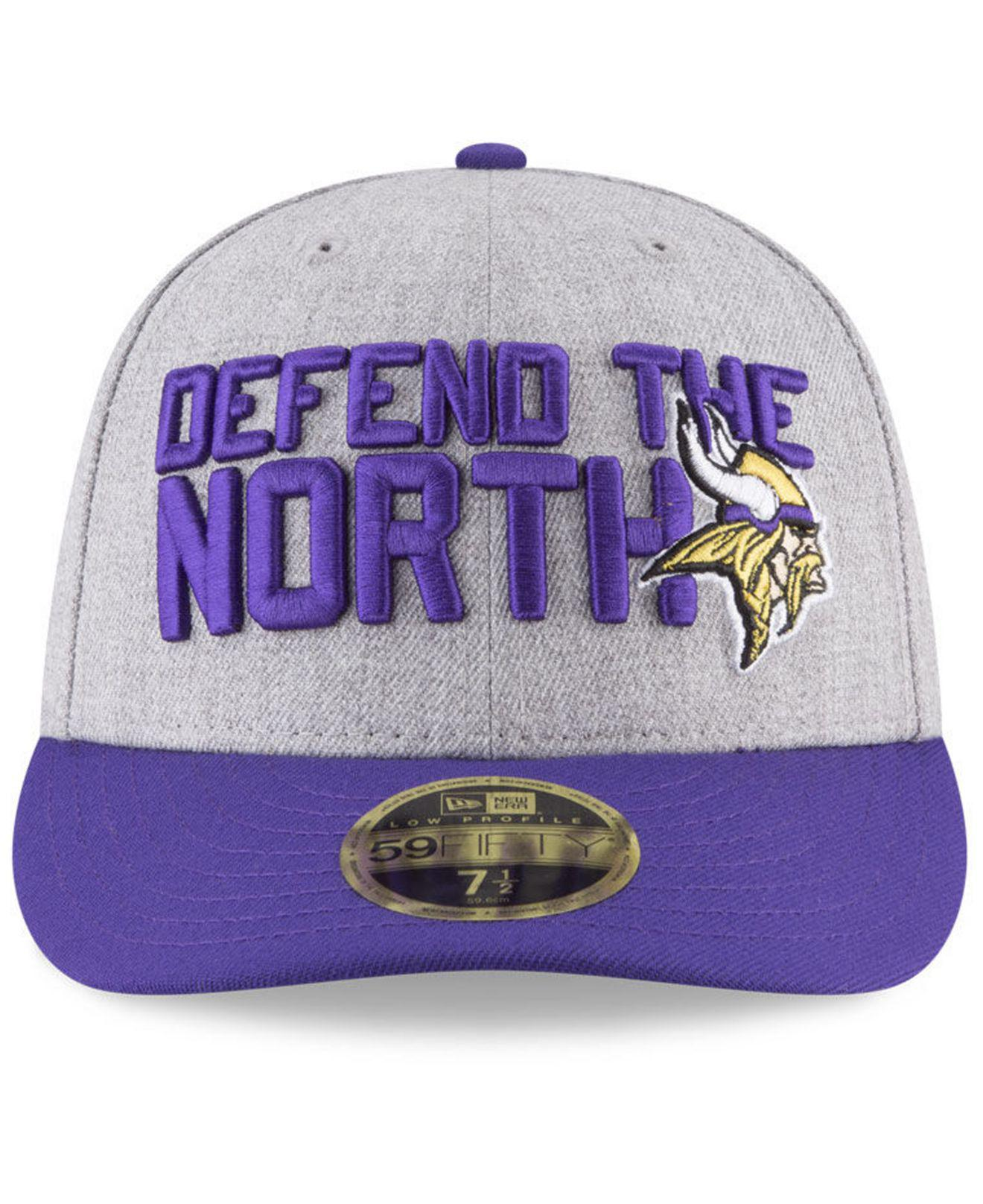 Lyst - KTZ Minnesota Vikings Draft Low Profile 59fifty Fitted Cap in Purple  for Men - Save 44% edc29f129