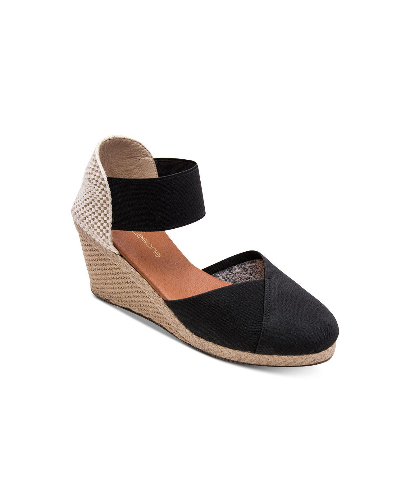6e4987eaa82 Lyst - Andre Assous Anouka Wedge Espadrilles in Black