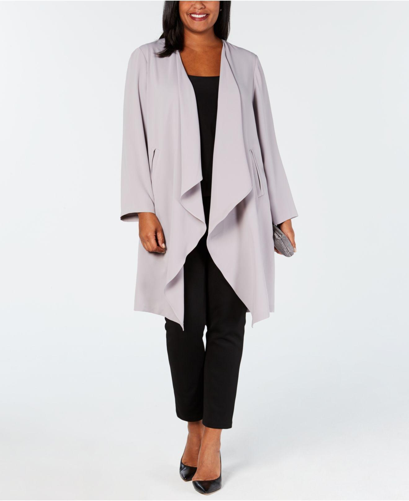 f93bbecf558 Nine West. Women s Plus Size Draped Duster Jacket