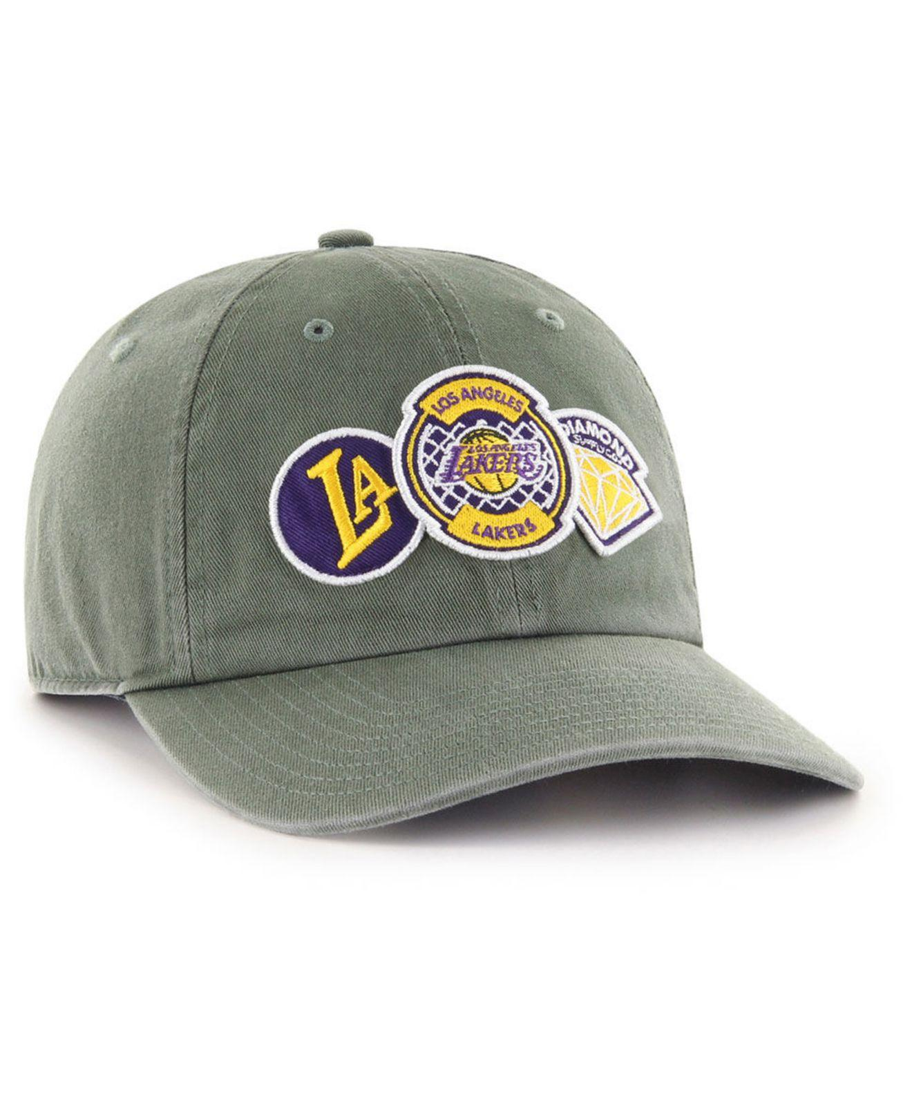 219467f117581 Lyst - 47 Brand Los Angeles Lakers Diamond Patch Clean Up Mf Cap in Gray  for Men