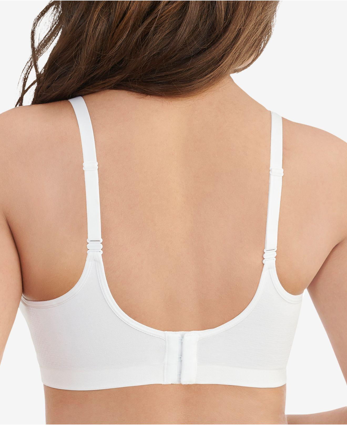36eb3b2a5dad2 Lyst - Vanity Fair Breathable Luxe Seamless Comfort Wirefree Bra 72219 in  White - Save 42.5%