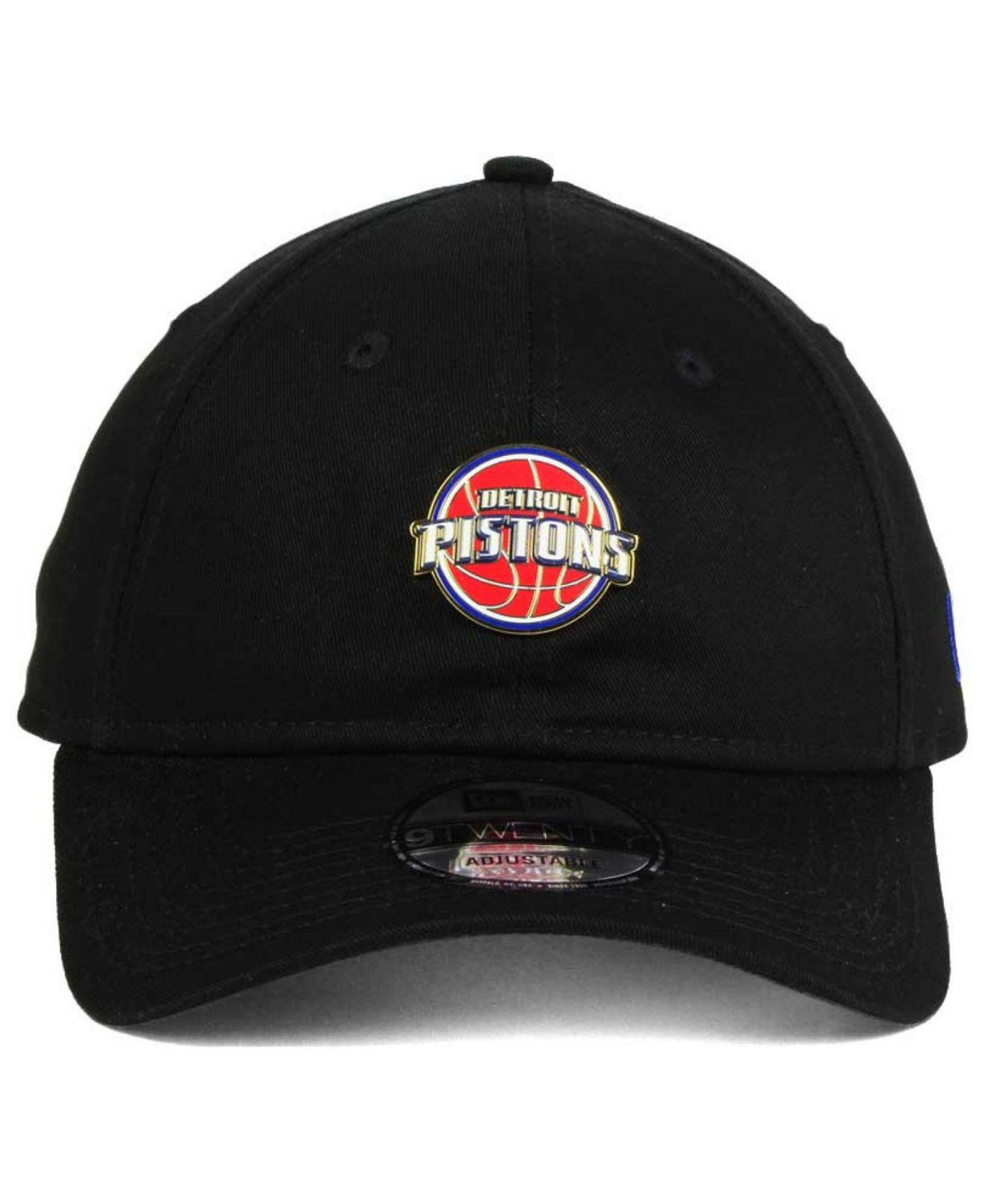 new arrival 84769 22d73 ... where to buy lyst ktz detroit pistons pintasic 9twenty cap in black for  men 3671c 1c201
