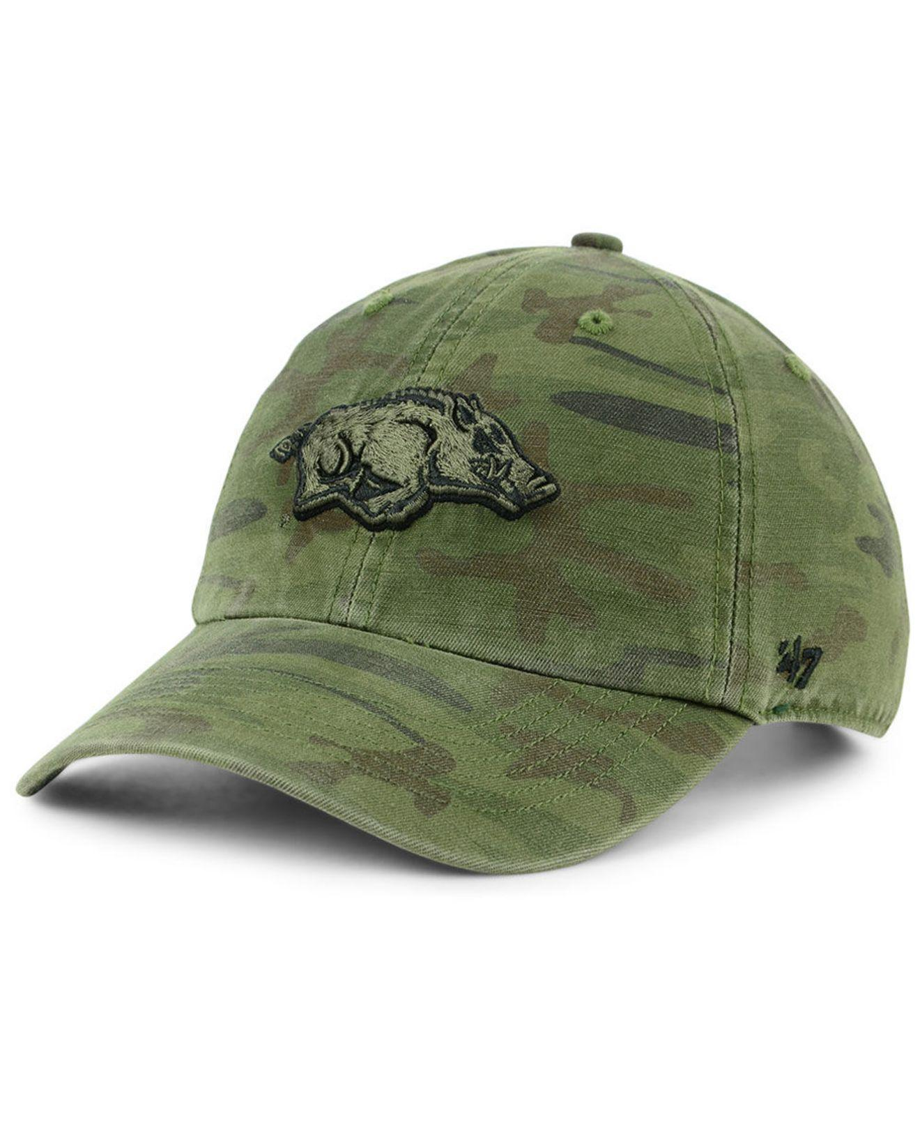 71c6286feab6 40ea6 6b2e5  shopping 47 brand. green arkansas razorbacks regiment clean up  strapback cap 0d2db 04e6f
