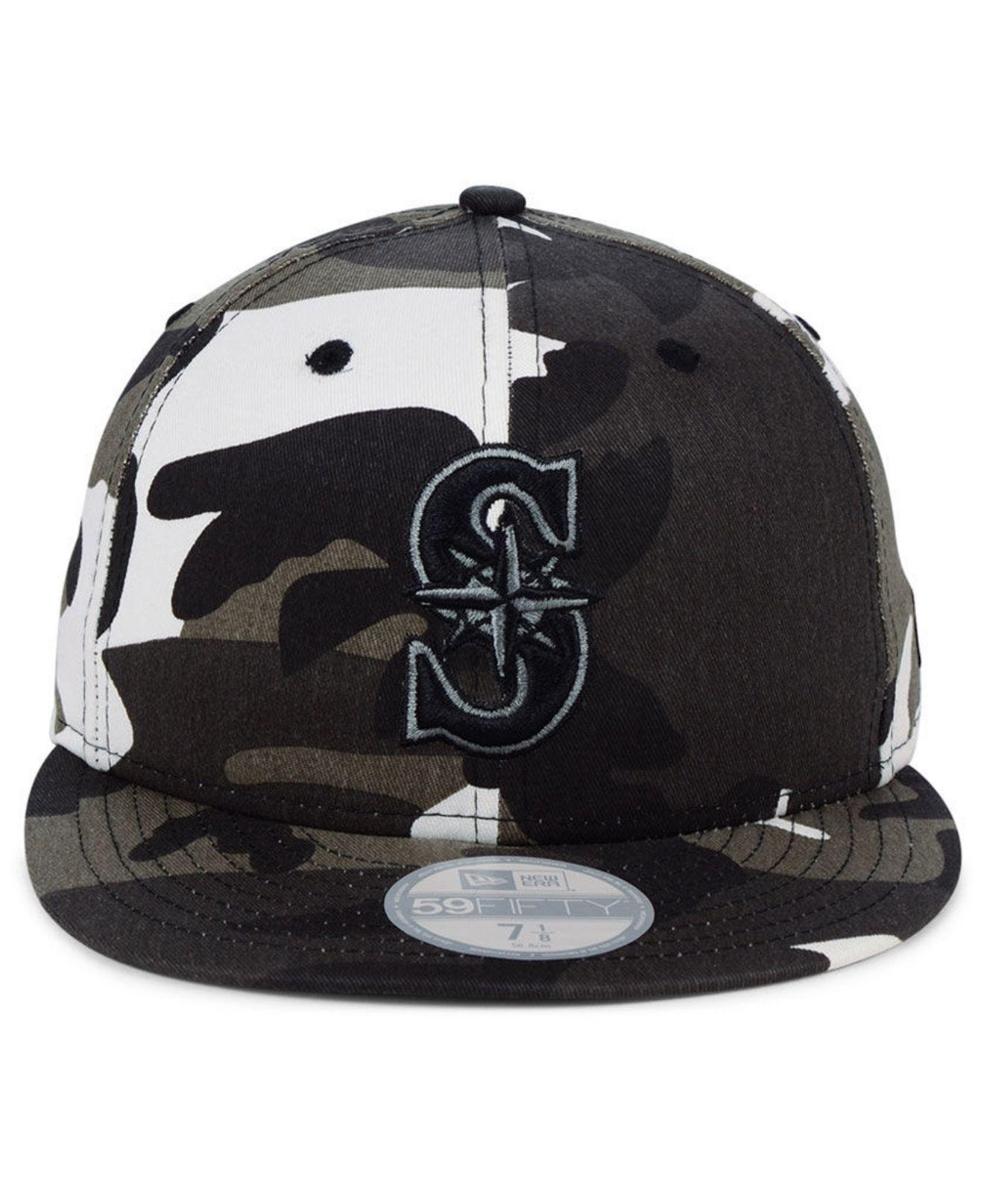 buy popular 23c2e 196c1 Lyst - KTZ Seattle Mariners Fall Prism Pack 59fifty-fitted Cap in Black for  Men