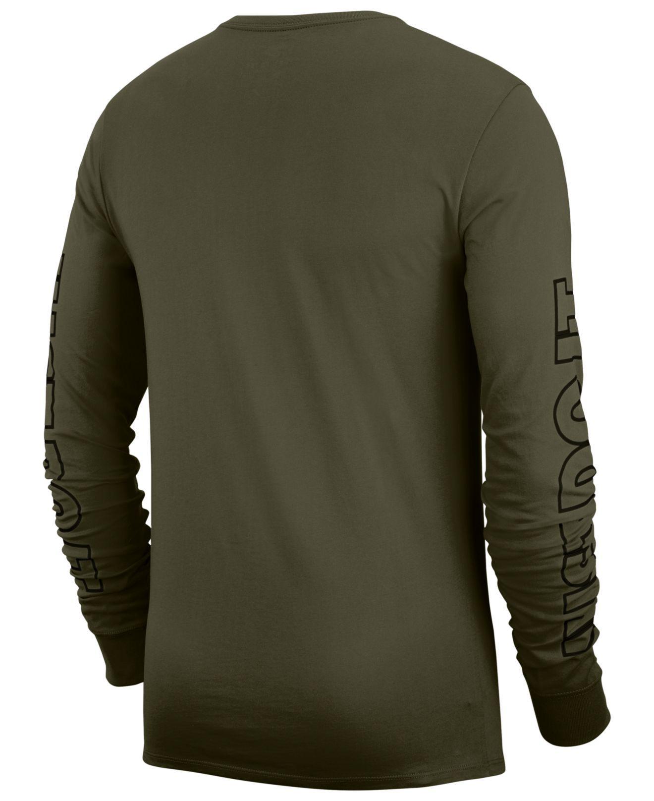 97949bf4e Lyst - Nike Sportswear Just Do It Long-sleeve T-shirt in Green for Men