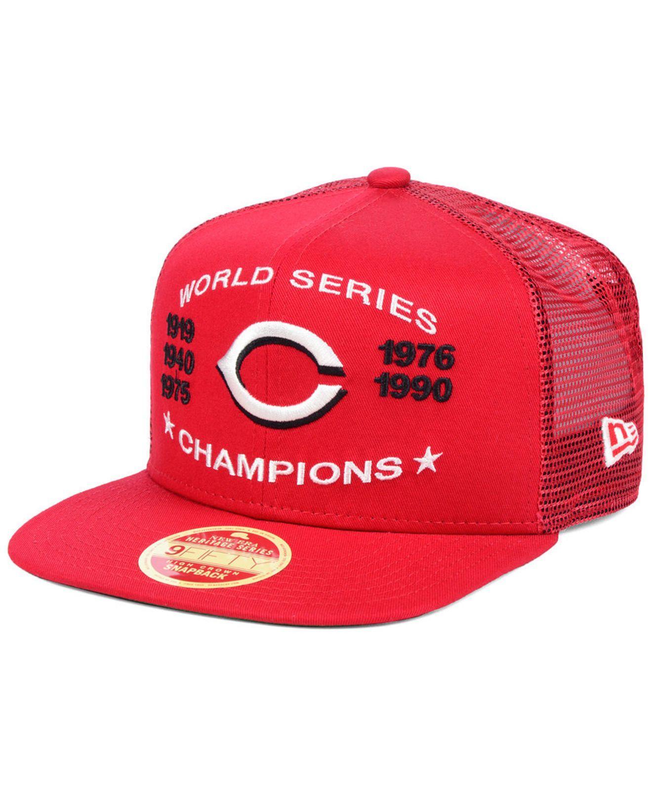 pretty nice 6109a 15d7b KTZ. Men s Cincinnati Reds Team Front Trucker 9fifty Snapback Cap