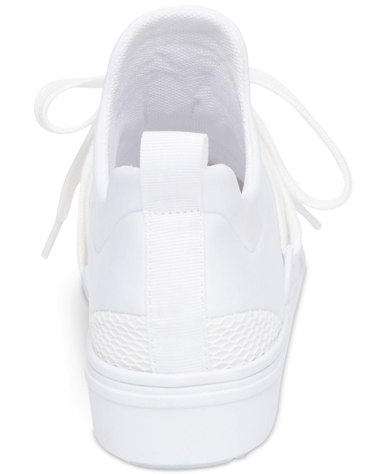 b12b6c0fd47 Lyst - Steve Madden Women s Lancer Athletic Sneakers in White