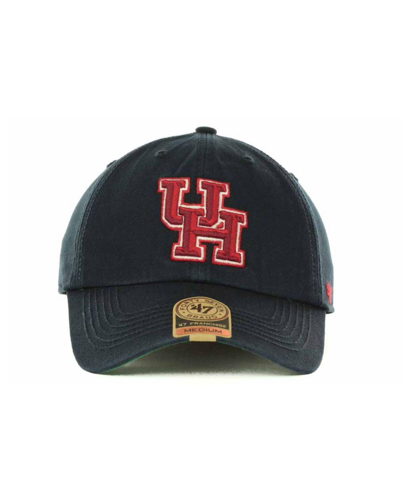 97fc6b048f3a1 ... where to buy lyst 47 brand houston cougars franchise cap in blue for men  be5bc 877de