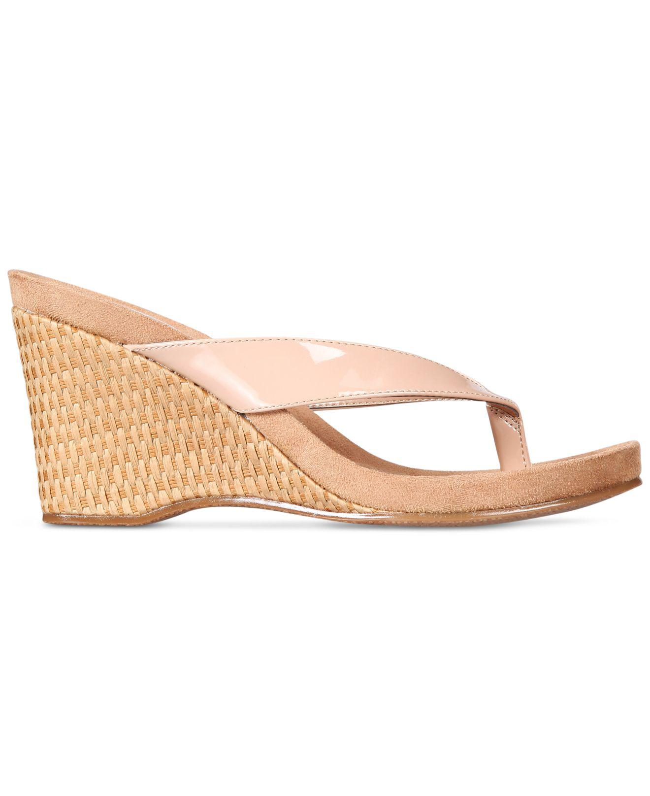 e6c9337f10b9 Lyst - Style   Co. Chicklet Wedge Sandals in Natural